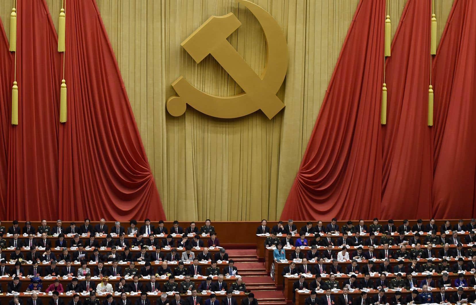 Le Congrès du Parti communiste chinois au pouvoir a lieu tous les cinq ans.
