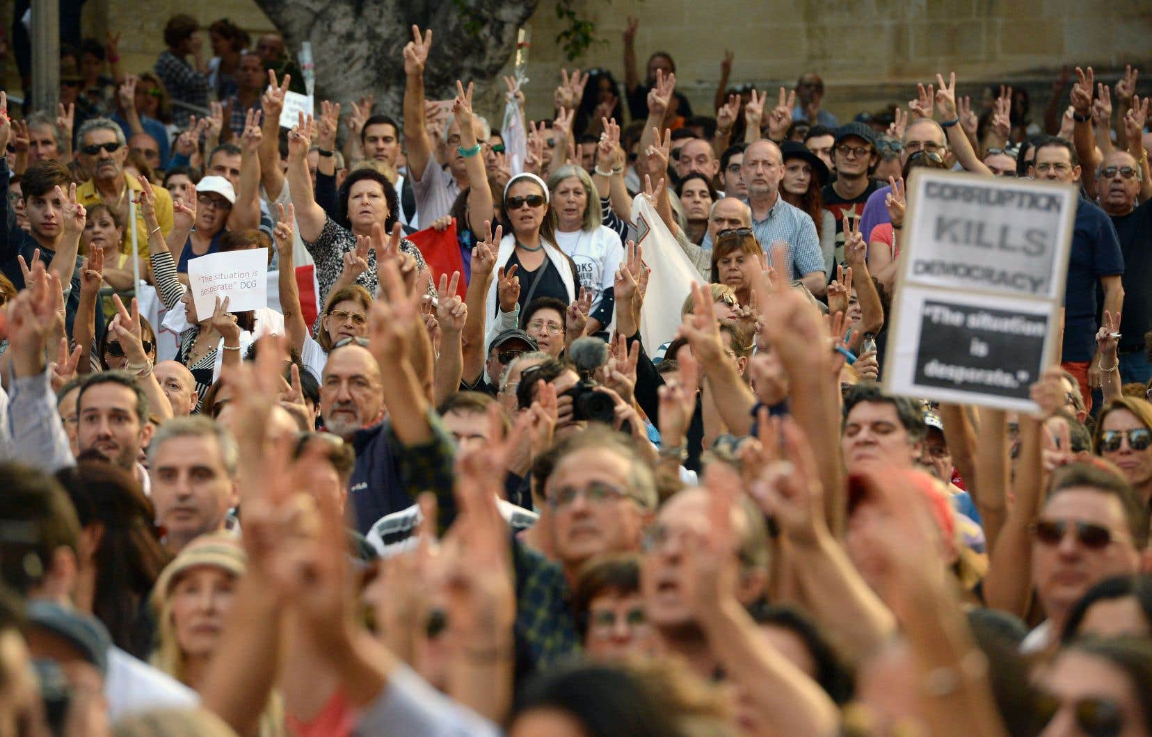 Des milliers de personnes étaient rassemblées à La Valette pour dénoncer le meurtre survenu il y a une semaine.