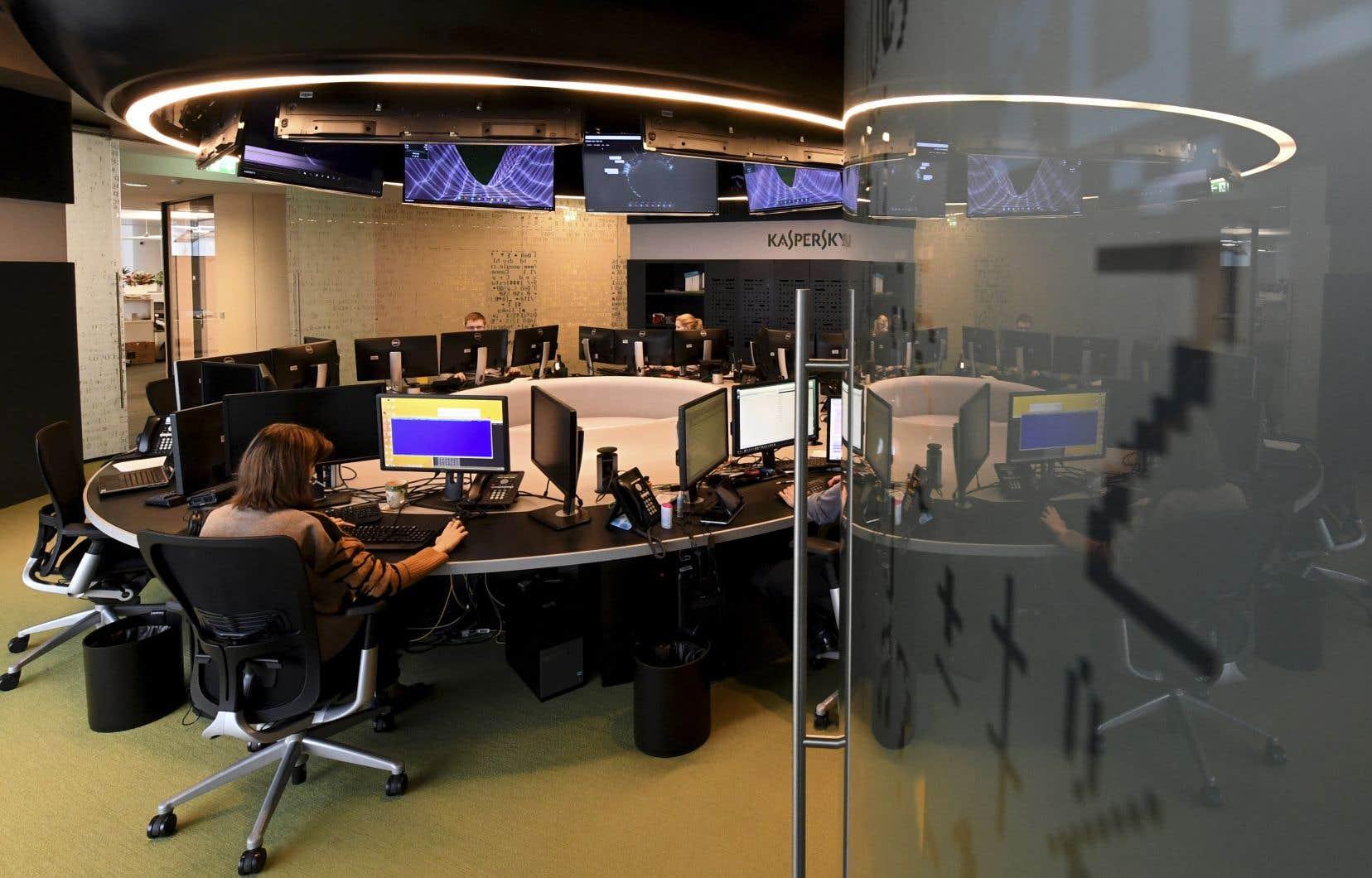 Le quartier général de la société de sécurité informatique russe Kaspersky Lab, à Moscou