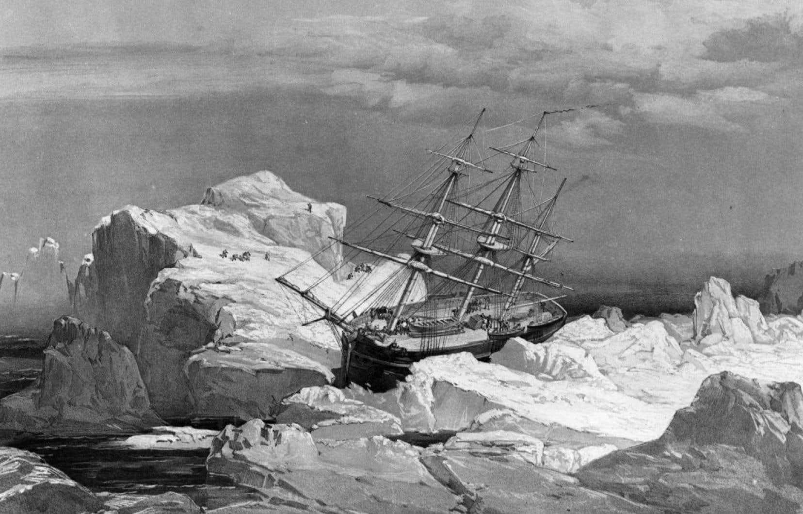 Le HMS «Investigator», dessiné ici en 1851, avait été lancé à la recherche des navires de l'expédition Franklin.