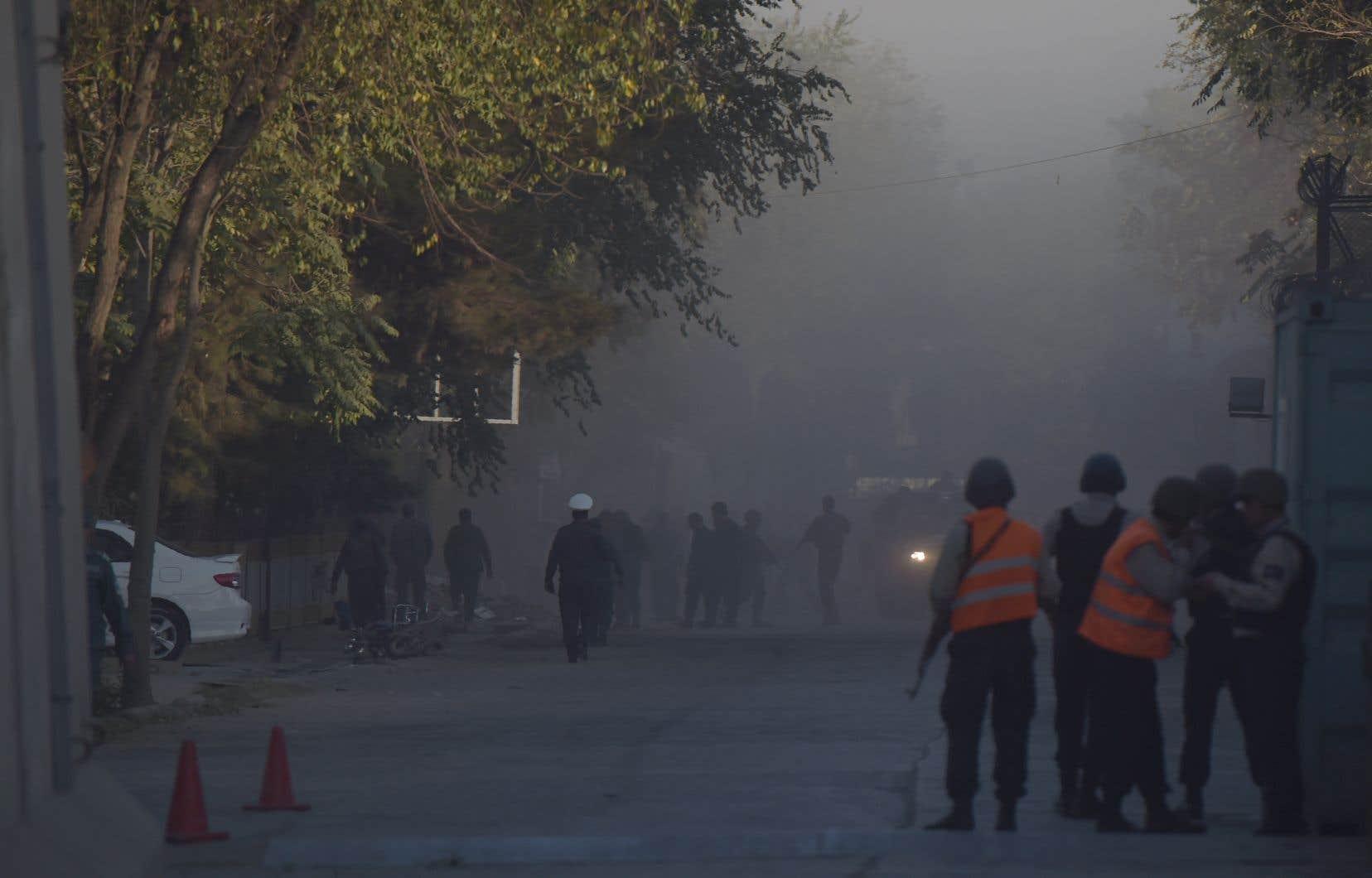 Il s'agit du premier attentat en cinq mois contre le quartier diplomatique de la capitale afghane.
