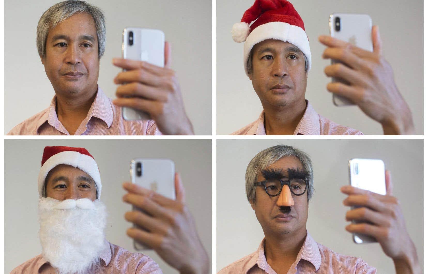 Les costumes et déguisements embêtent le système de reconnaissance faciale de l'appareil. Un bonnet de père Noël est acceptable, mais pas la barbe, par exemple.