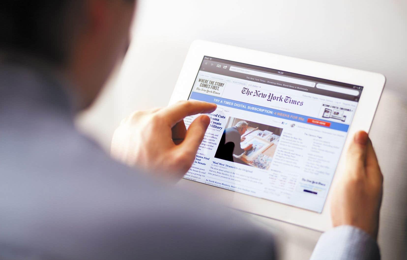 Au total, ils sont maintenant tout près de 2,5 millions à payer pour le journal en version numérique.