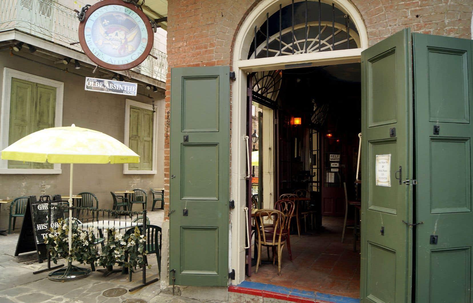Un bar dans le Vieux carré français, quartier historique de La Nouvelle-Orléans