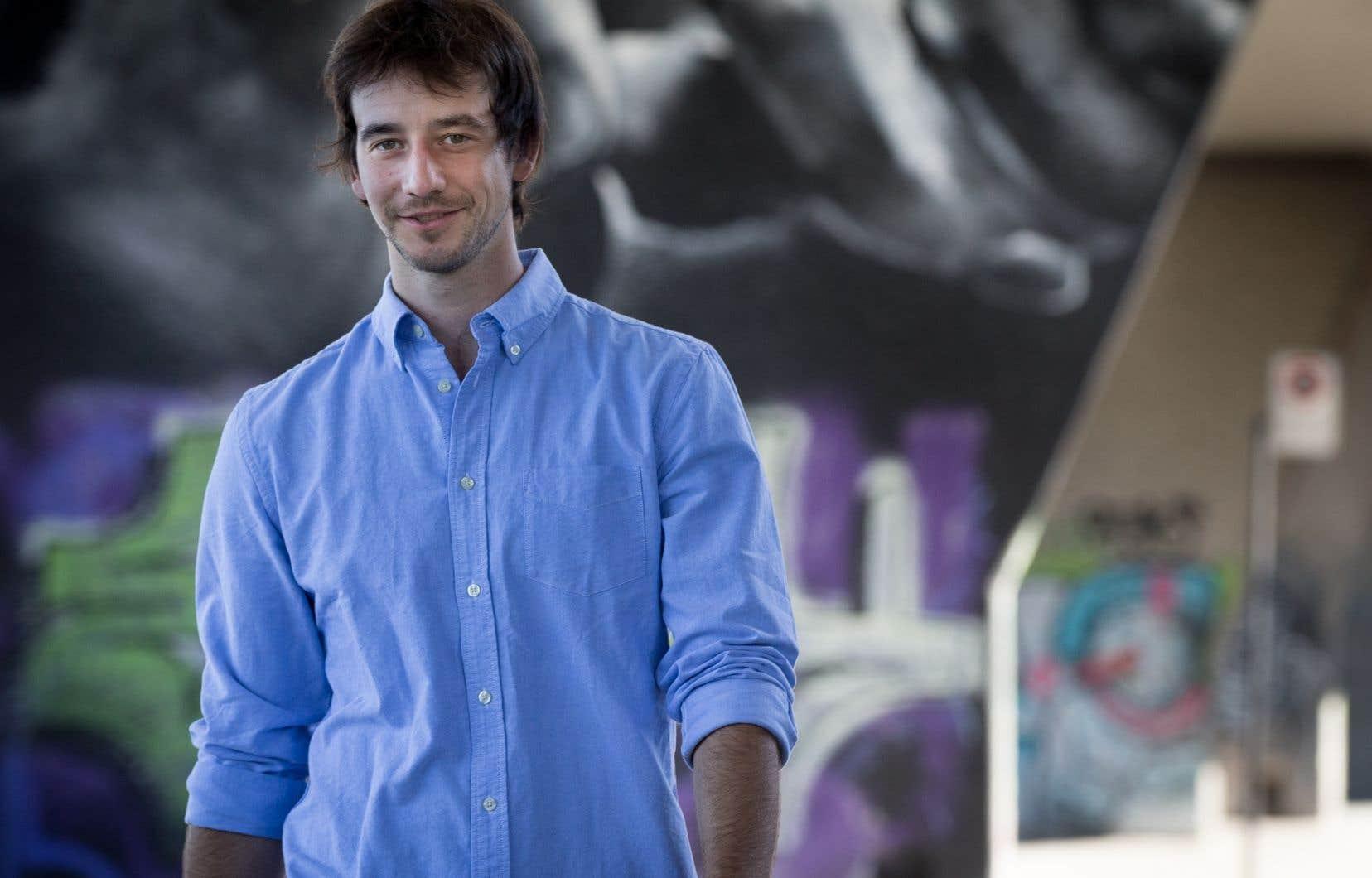 L'auteur Christian Guay-Poliquin, l'un des gagnants des Prix littéraires du Gouverneur général de 2017