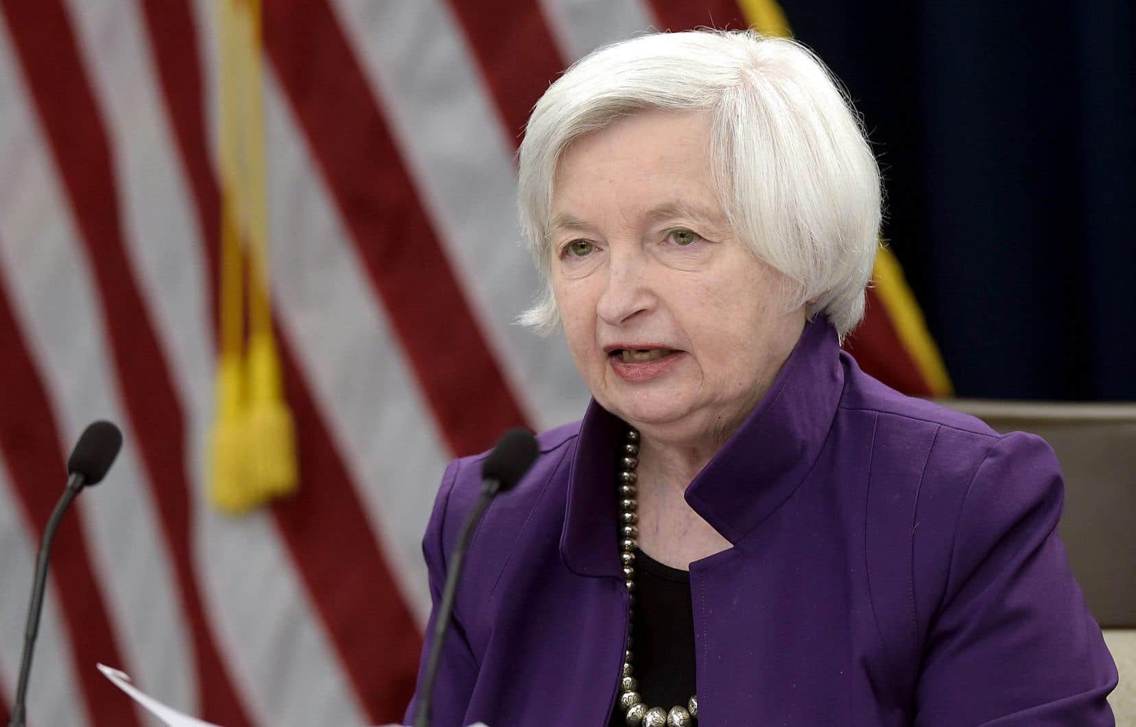 Le mandat de la présidente de la Réserve fédérale, Janet Yellen, se termine en février.