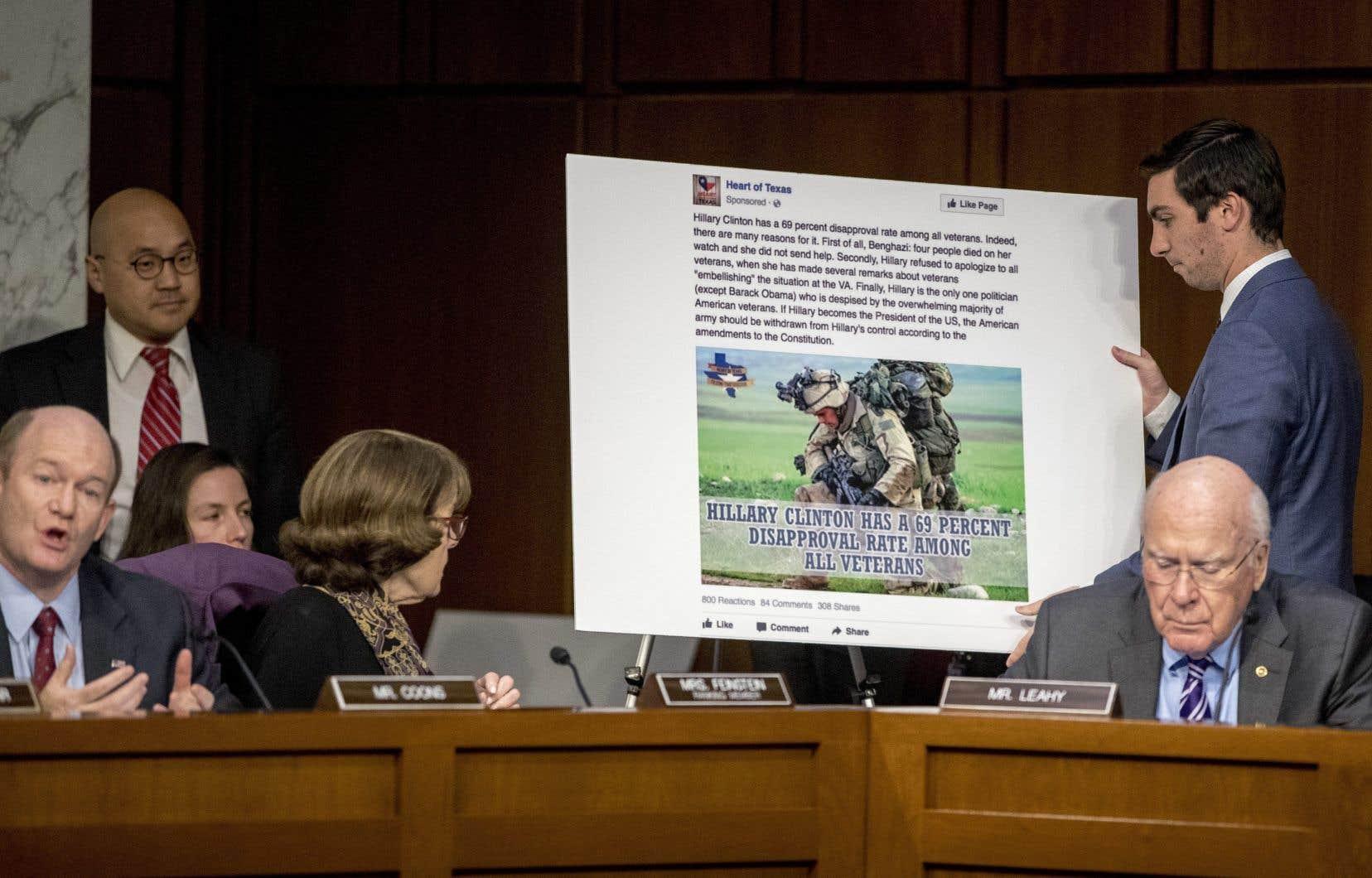 Les directeurs juridiques de Facebook, de Twitter et de Google ont fait face aux membres de la Commission du renseignement du Sénat pour tenter de les persuader qu'ils avaient bien pris la mesure de leurs responsabilités.