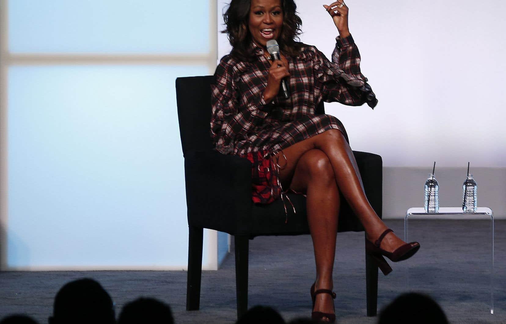 Michelle Obama lors du sommet de l'Obama Foundation à Chicago, le 1er novembre
