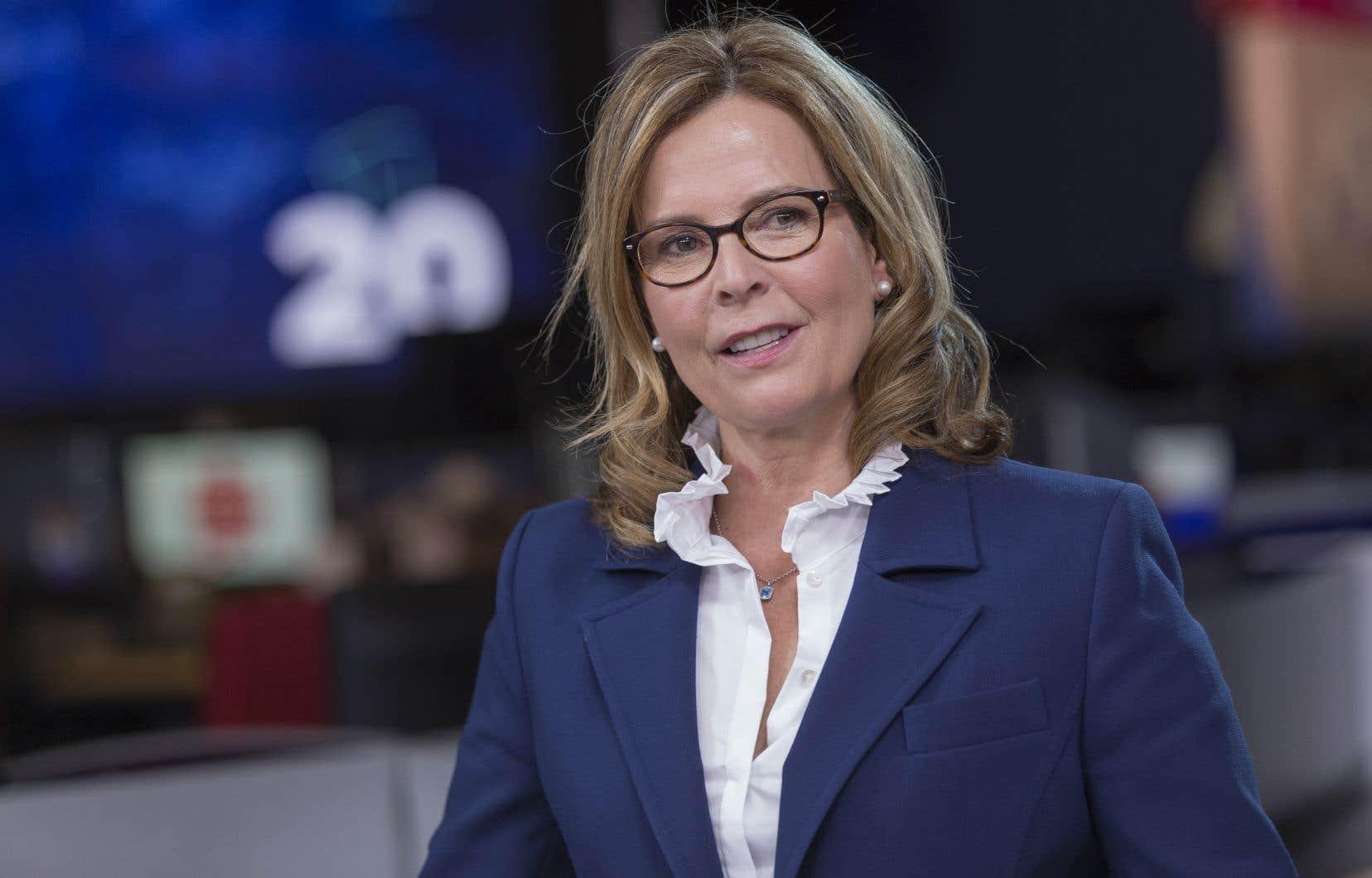 Anne Guérette avant le débat télévisé pour la mairie de Québec le 17 octobre dernier