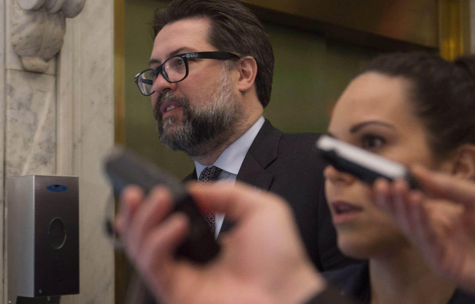 Le ministre David Heurtel a déjà rencontré des intervenants du milieu communautaire et du monde des affaires dans deux régions du Québec.