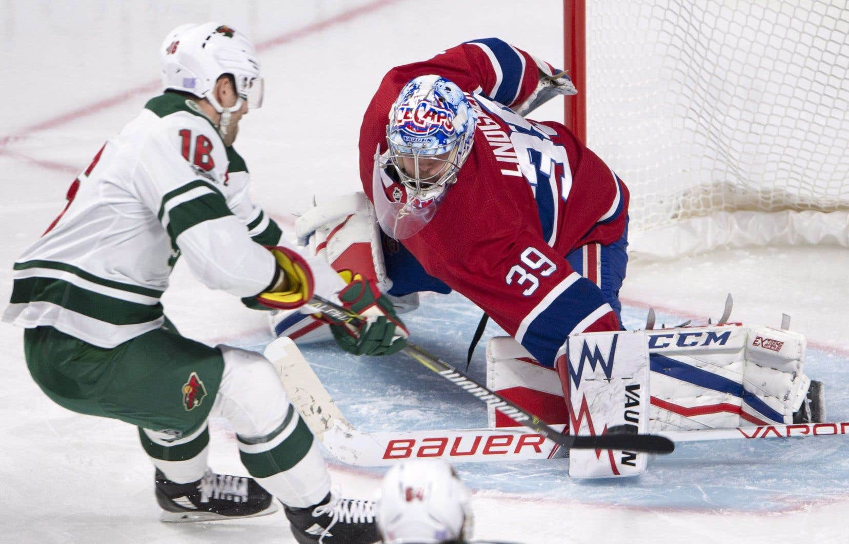 Lindgren a été victime d'un tour du chapeau de Jason Zucker en troisième période.