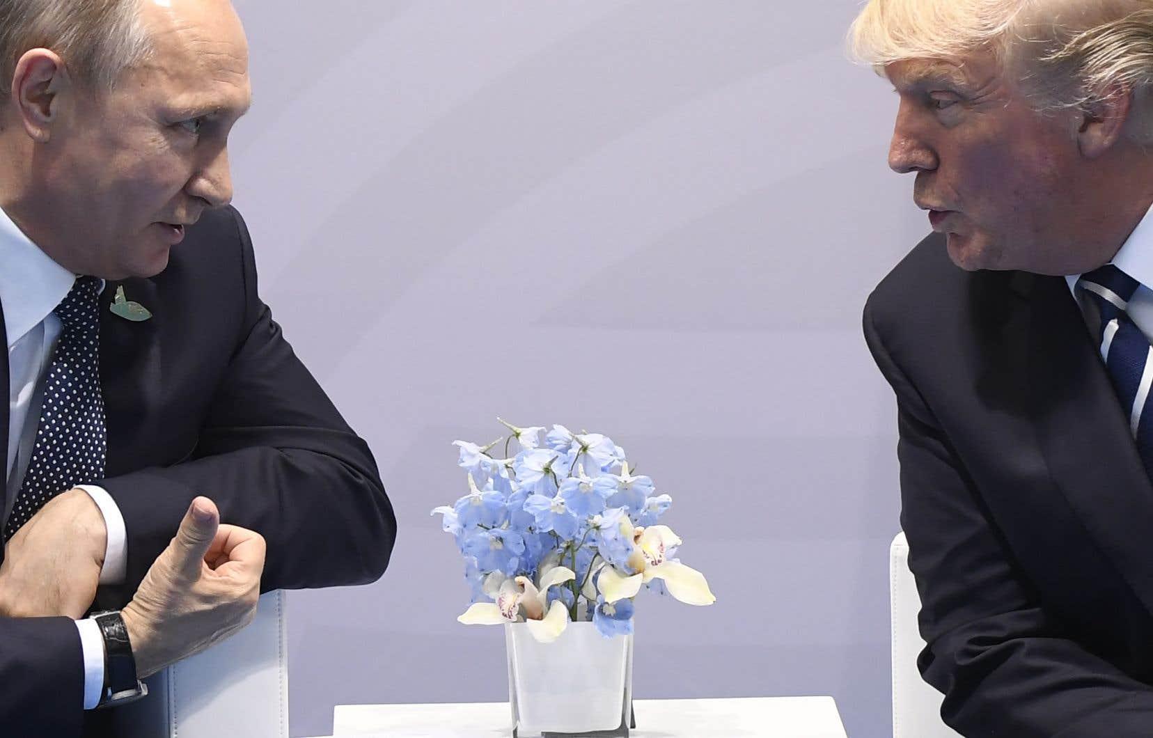 Les présidents Donald Trump et Vladimir Poutine s'étaientrencontrés en Allemagneen juillet dernier.