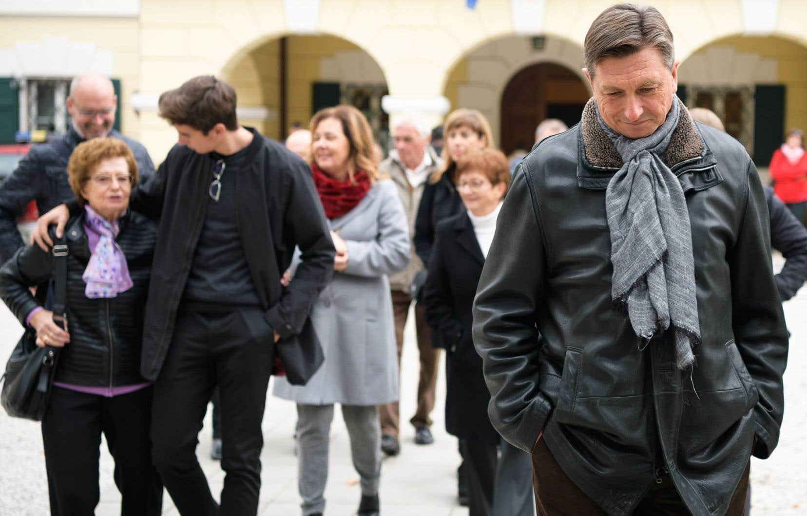 Le chef de l'État slovène sortant Borut Pahor