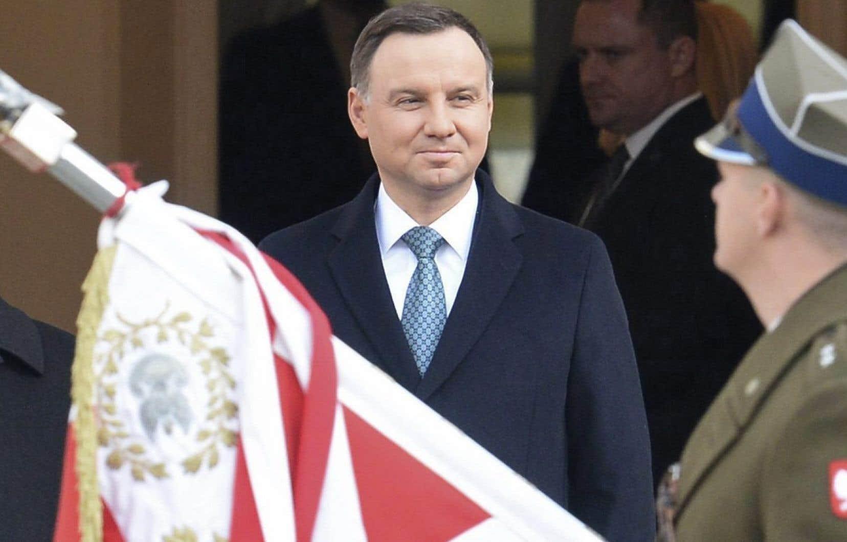 Le président conservateur polonais, Andrzej Duda, le 6 novembre à Varsovie