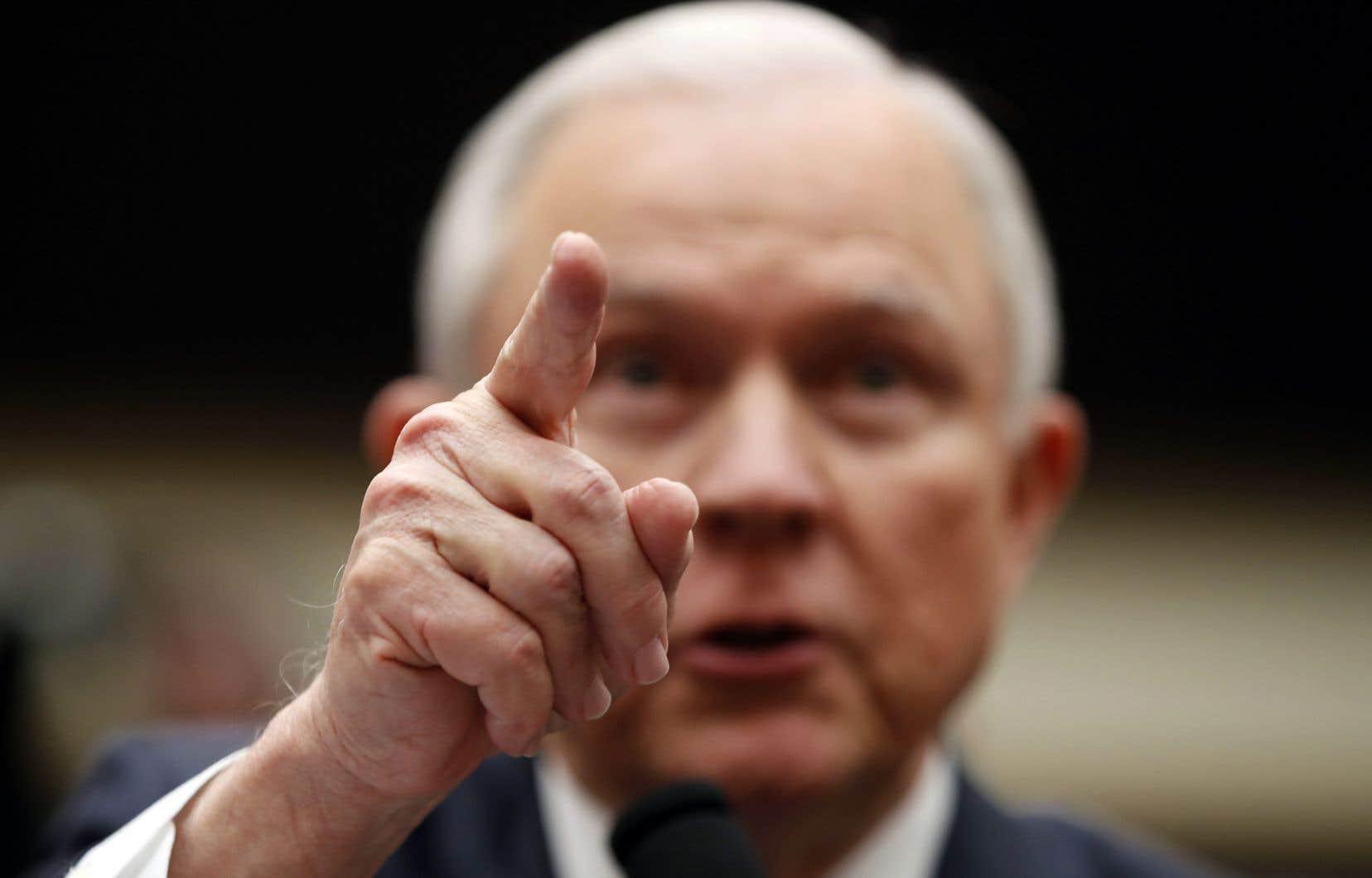 Le secrétaire américain à la Justice, Jeff Sessions