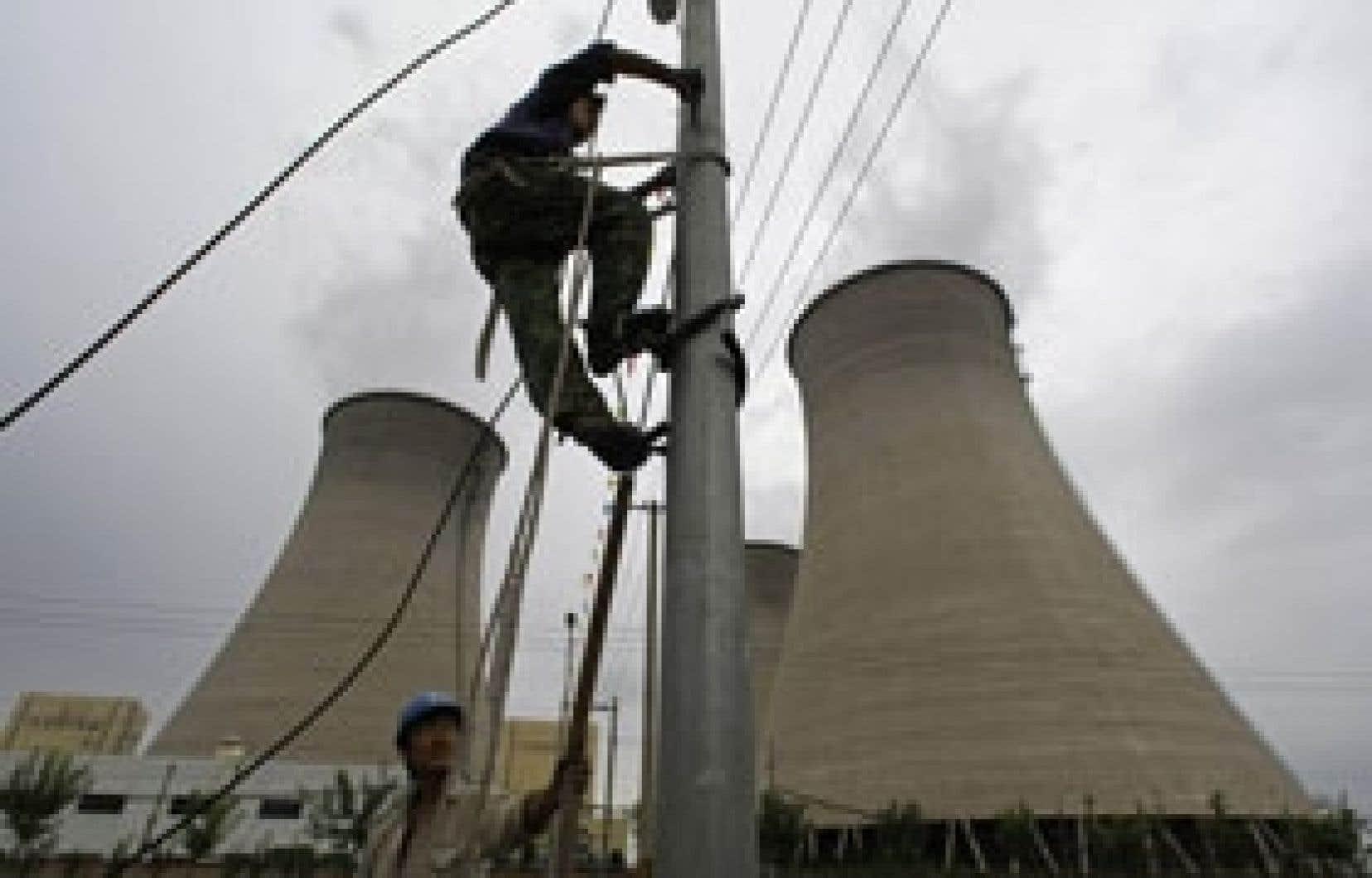 Centrale thermique au charbon, à Pékin, en Chine