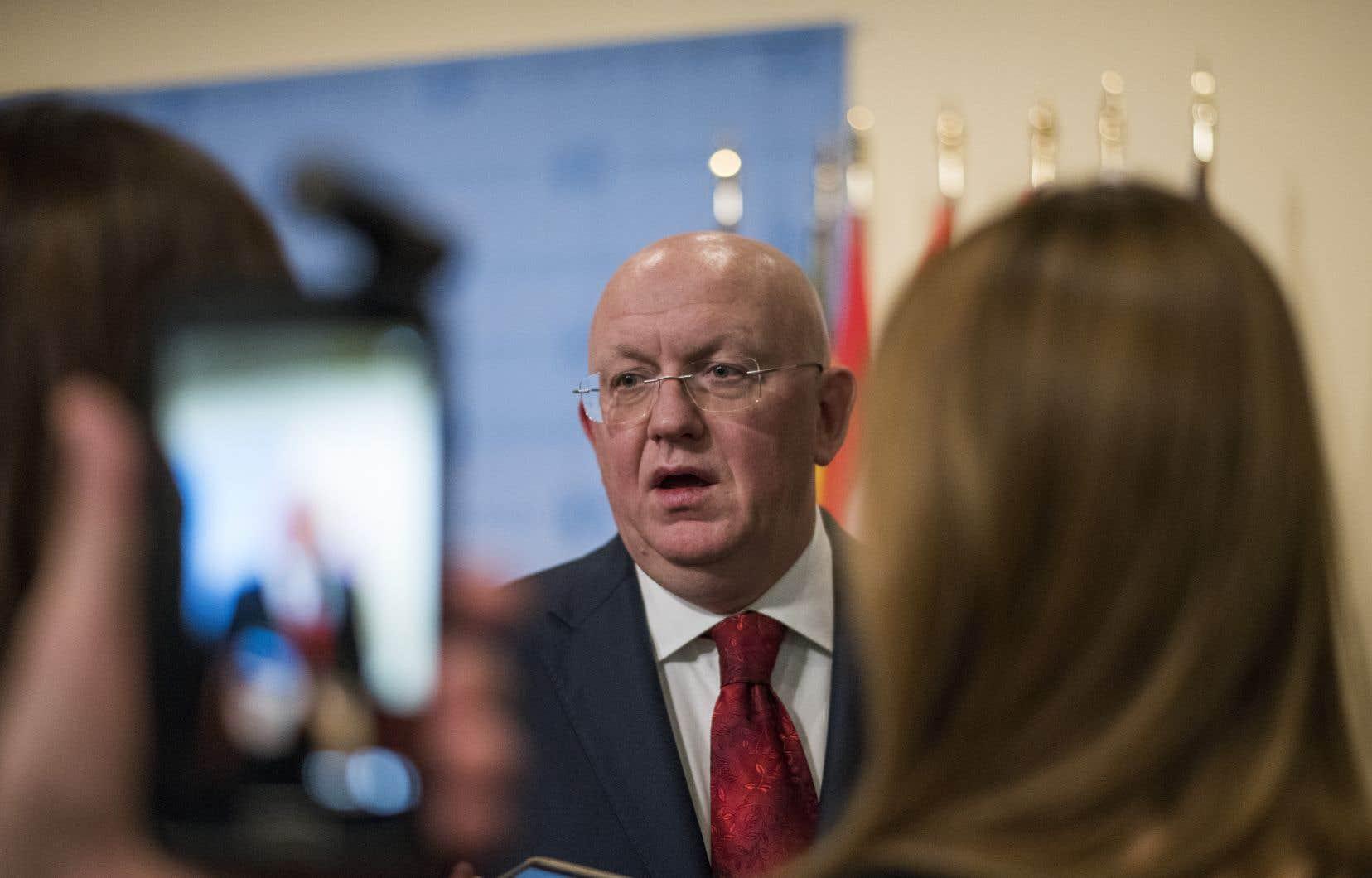 L'ambassadeur russe à l'ONU, Vassily Nebenzia, a rejeté toutes les critiques.
