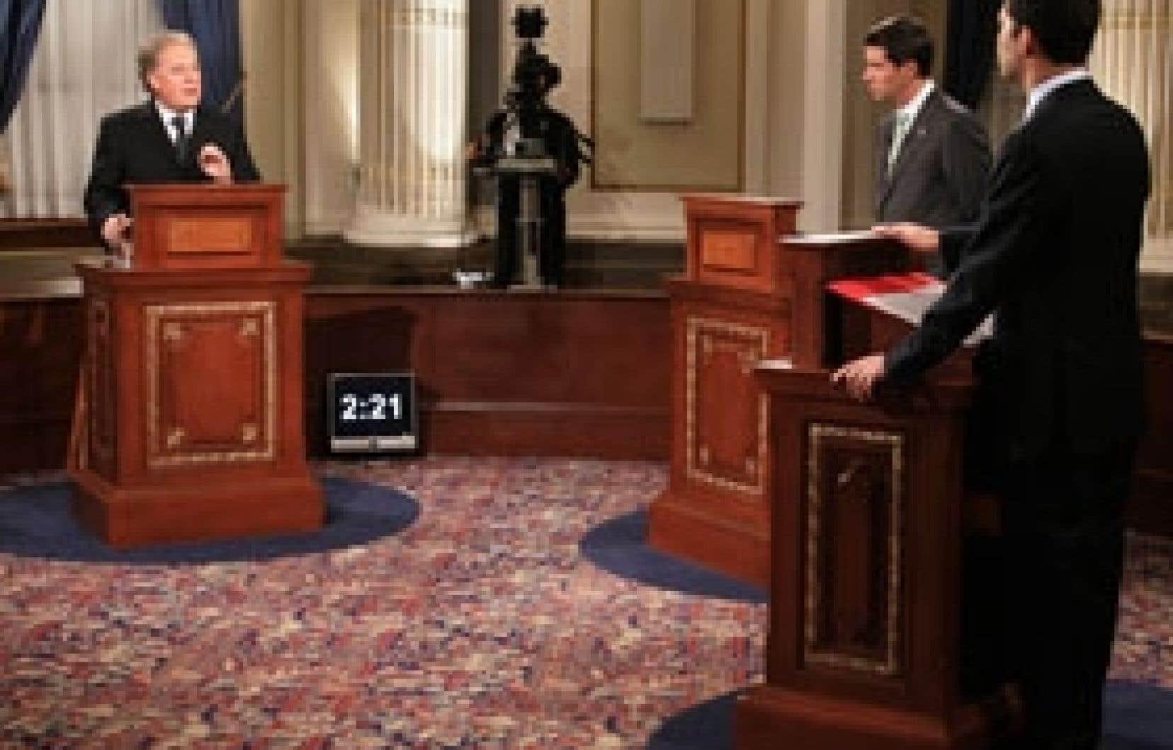 Le débat télévisé lors des dernières élections québécoises mettait aux prises, dans une formule traditionnelle, Jean Charest, André Boisclair et Mario Dumont.