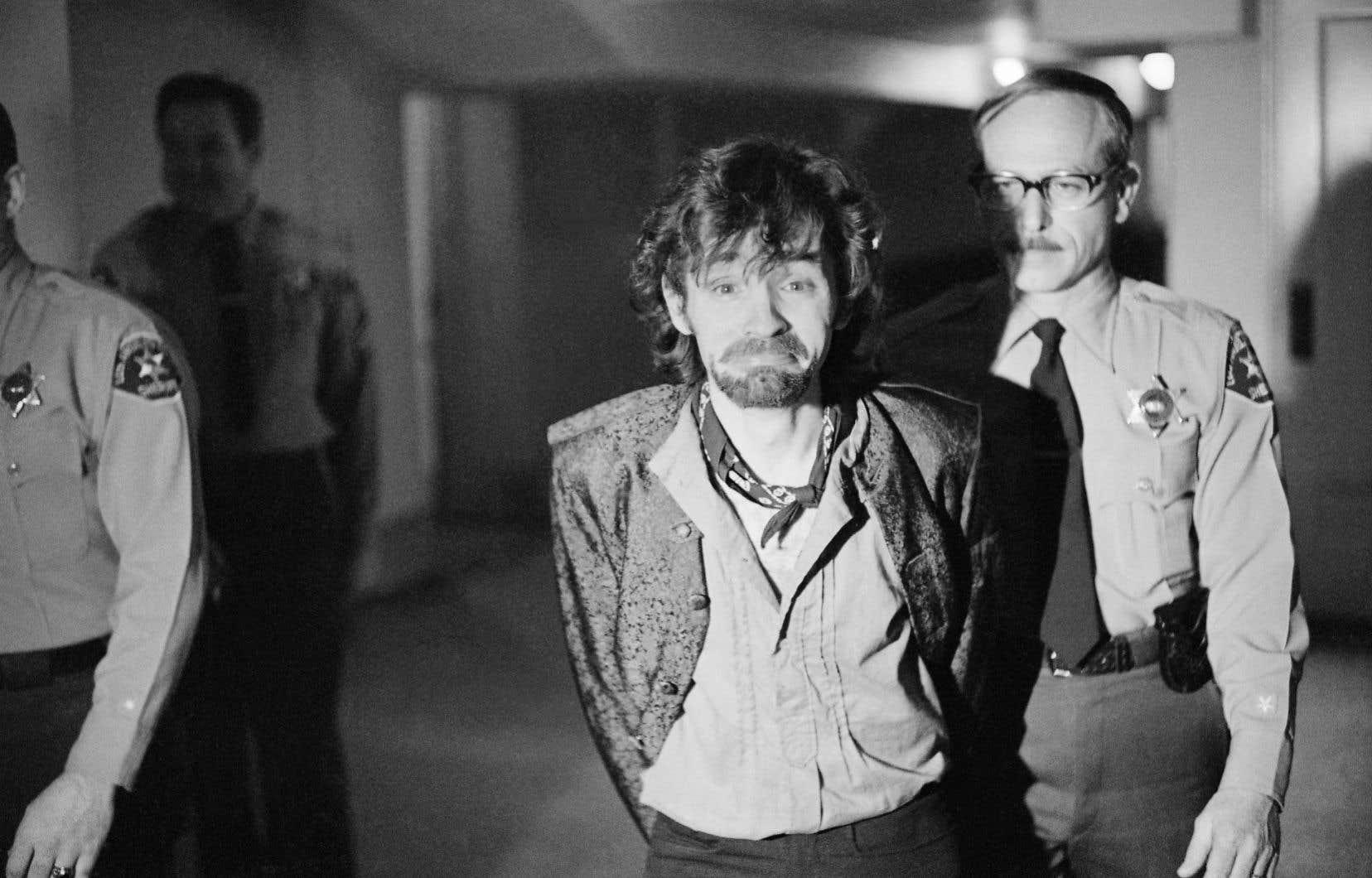 Charles Manson lors de son procès en décembre 1970.