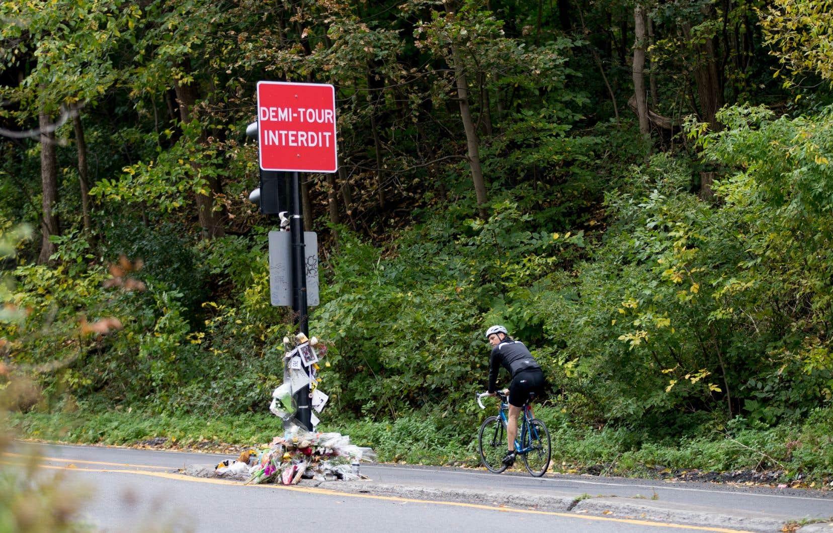 Clément Ouimet a été heurté par un automobiliste effectuant illégalement un demi-tour sur le mont Royal.