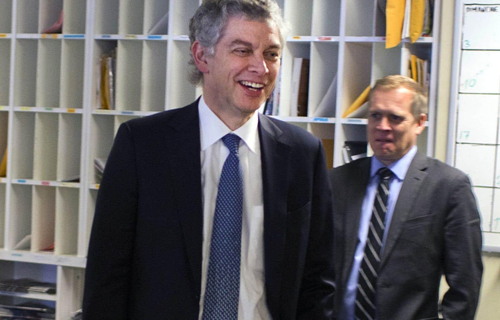 <p>Jean Lamarre assumait la présidence du conseil d'administration du «Devoir» depuis 2009. Il a annoncé en janvier 2016 la nomination de Brian Myles au poste de directeur.</p>