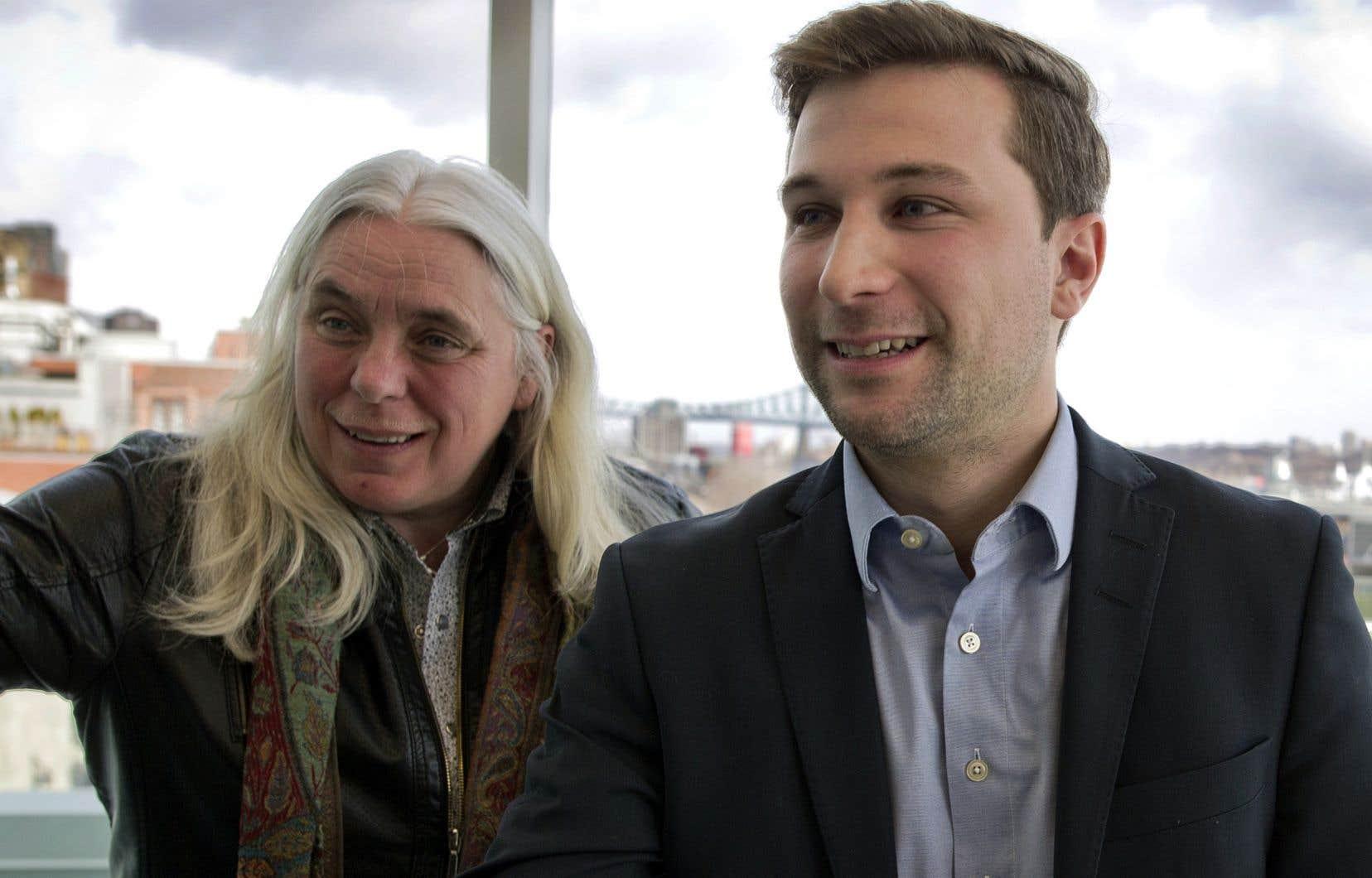 Manon Massé et Gabriel Nadeau-Dubois, les co-porte-parole de Québec solidaire