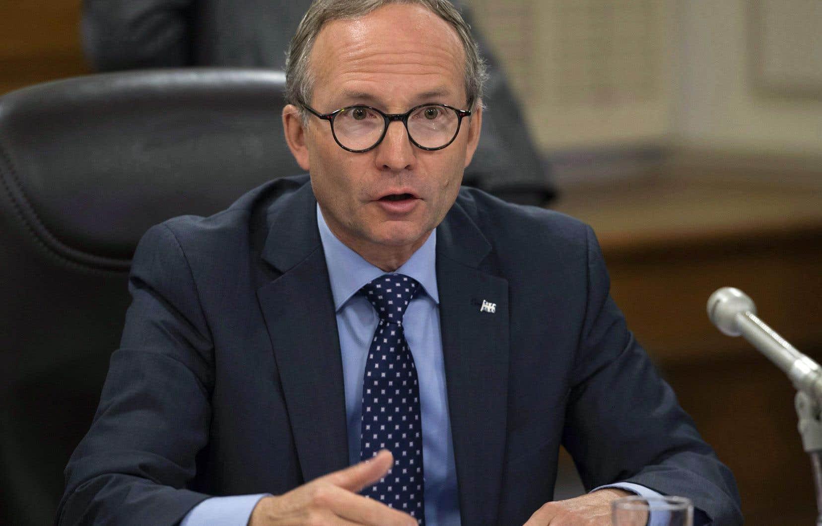Le ministre de la Sécurité publique,Martin Coiteux