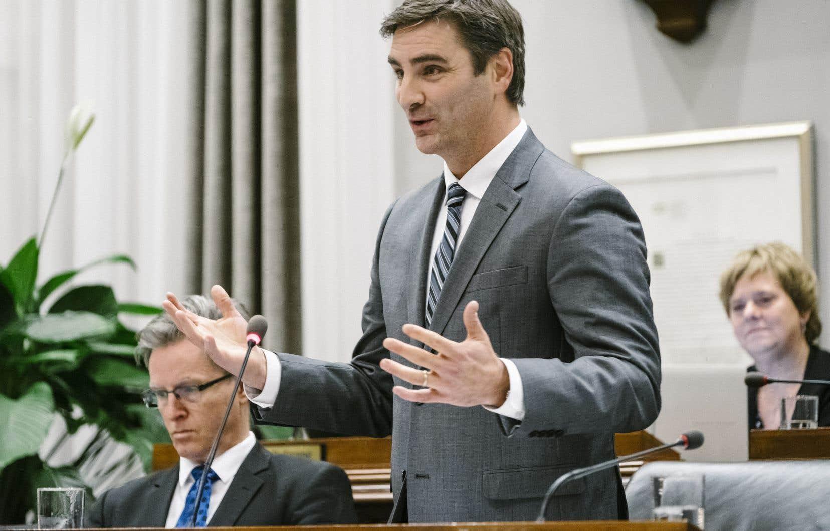 Le nouveau chef de l'opposition, Jean-François Gosselin