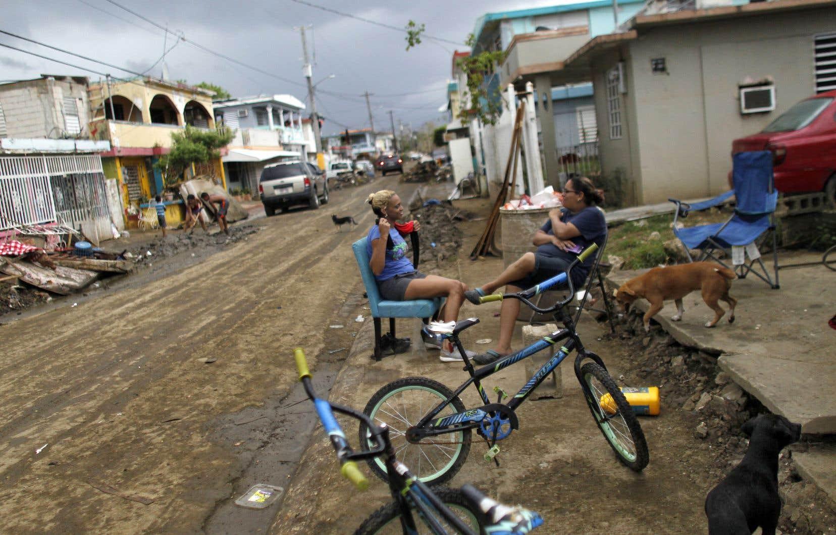 L'ouragan «Maria» générait des vents de 248km/heure quand il a touché terre près de Yabucoa, dans le sud-est du pays.
