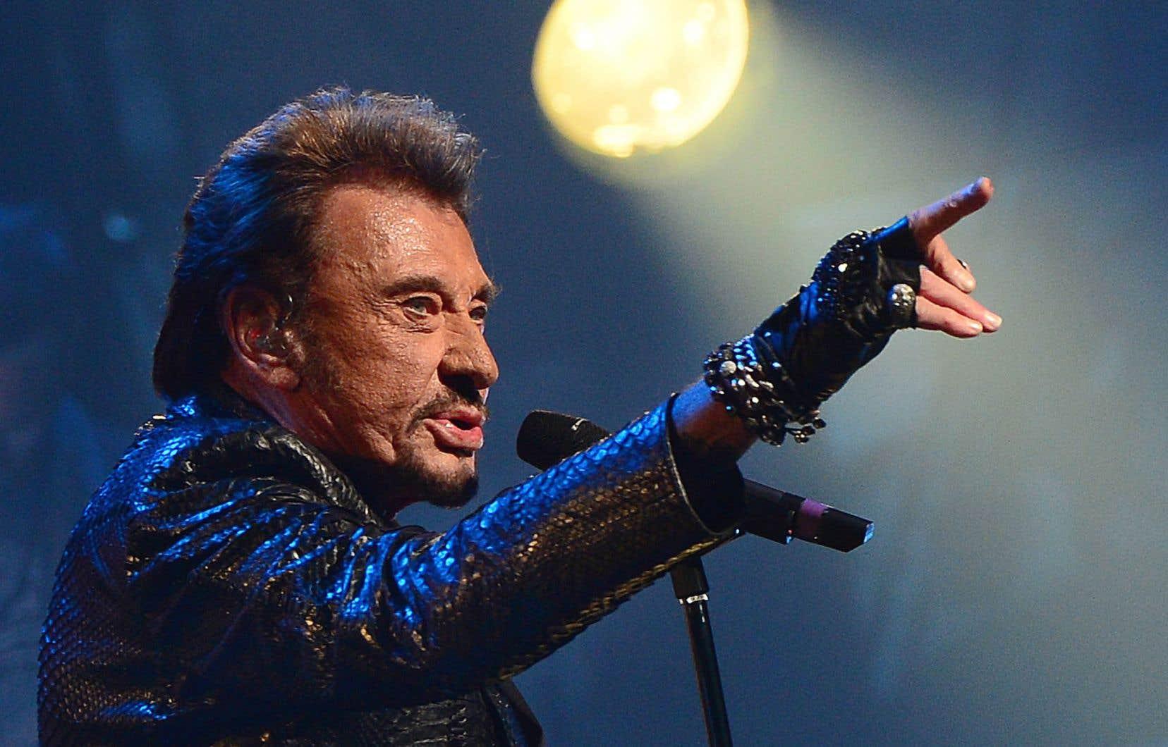 Johnny Hallyday en spectacle au Beacon Theatre de New York le 7octobre 2012. Le rockeur souffrait d'un cancer des poumons.