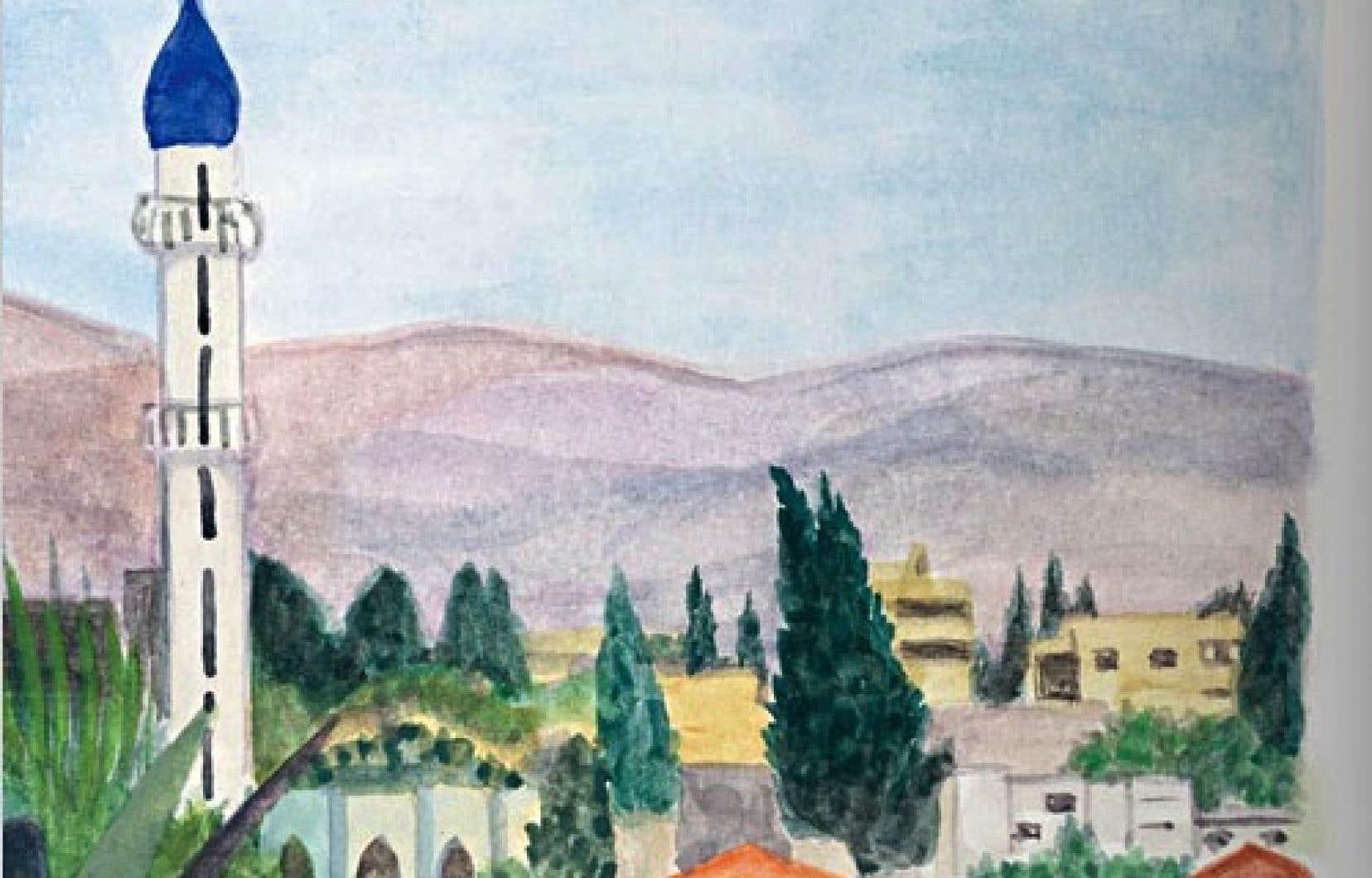 Détail d'une illustration tirée du livre de Lamia Ziadé