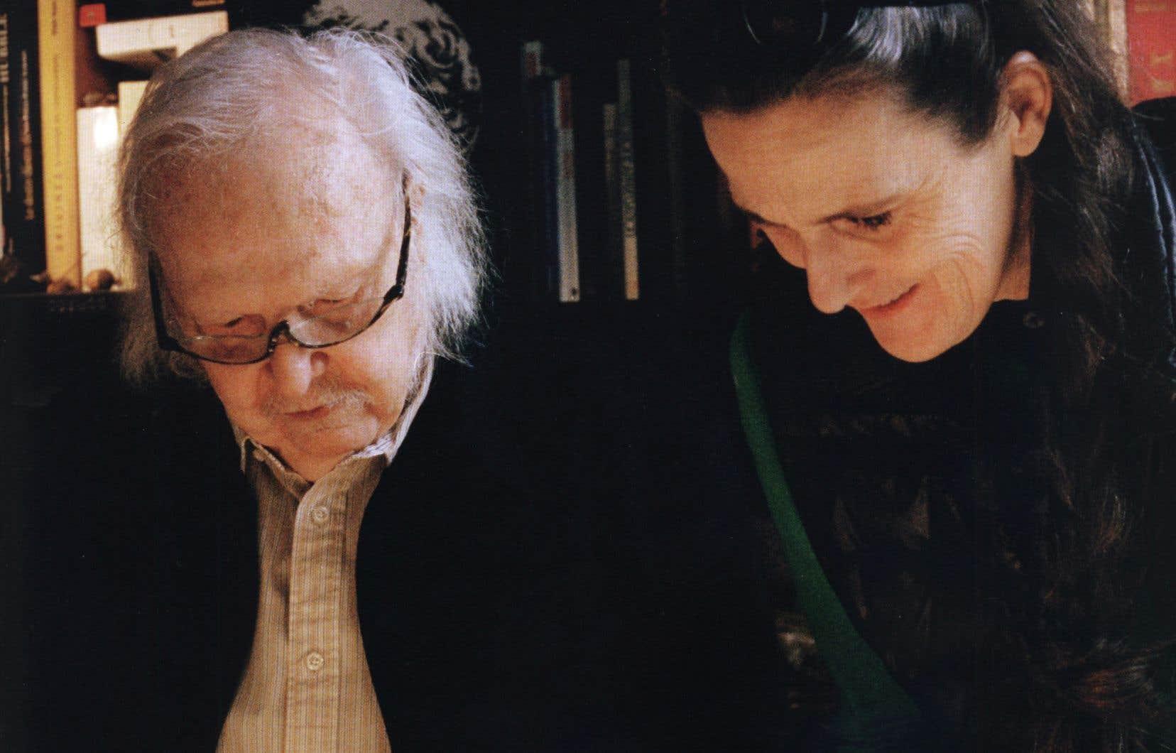 La peintre et le linguiste Alain Rey, complices autour des formes que peut induire le langage