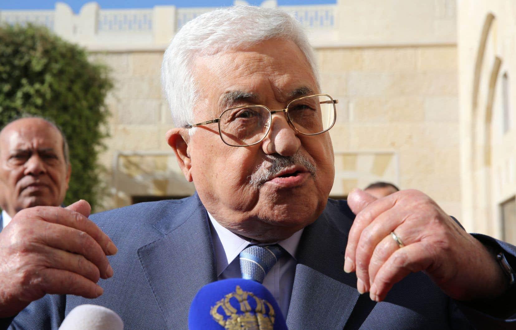Le président palestinien, Mahmoud Abbas, s'exprimant devant les médias en octobre dernier