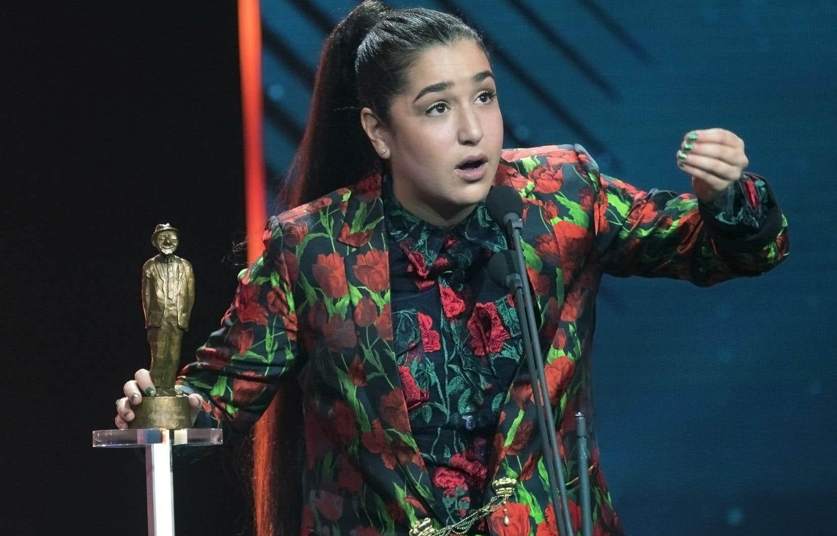 En nomination pour cinq prix, Mariana Mazza a dû attendre à la toute fin de la soirée pour remporter un Olivier, mais non le moindre.