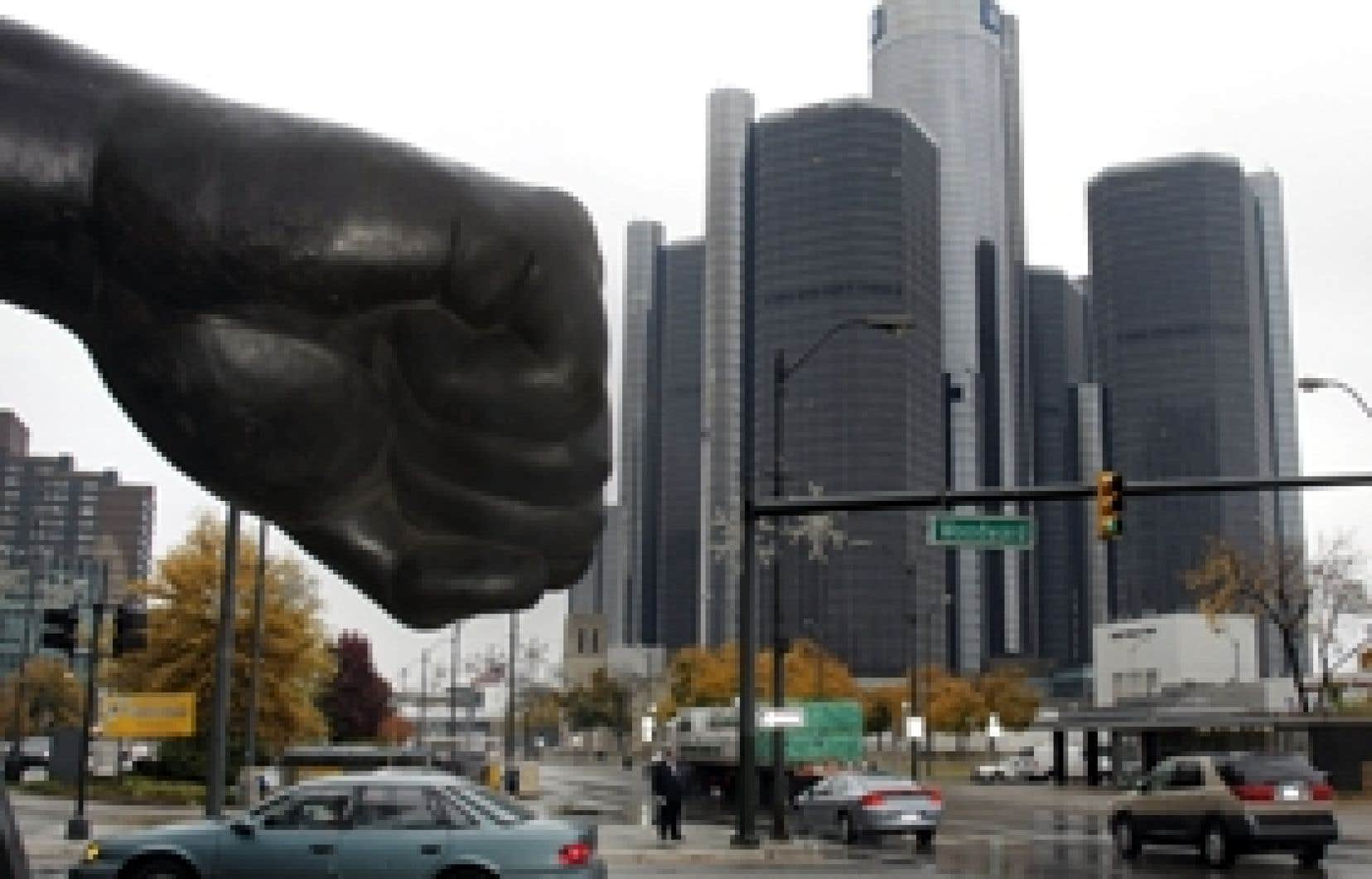 Le siège social de GM à Detroit. Si la situation actuelle perdure, le numéro un américain de l'automobile ne devrait plus avoir l'argent nécessaire à son fonctionnement dès les premiers mois de 2009.