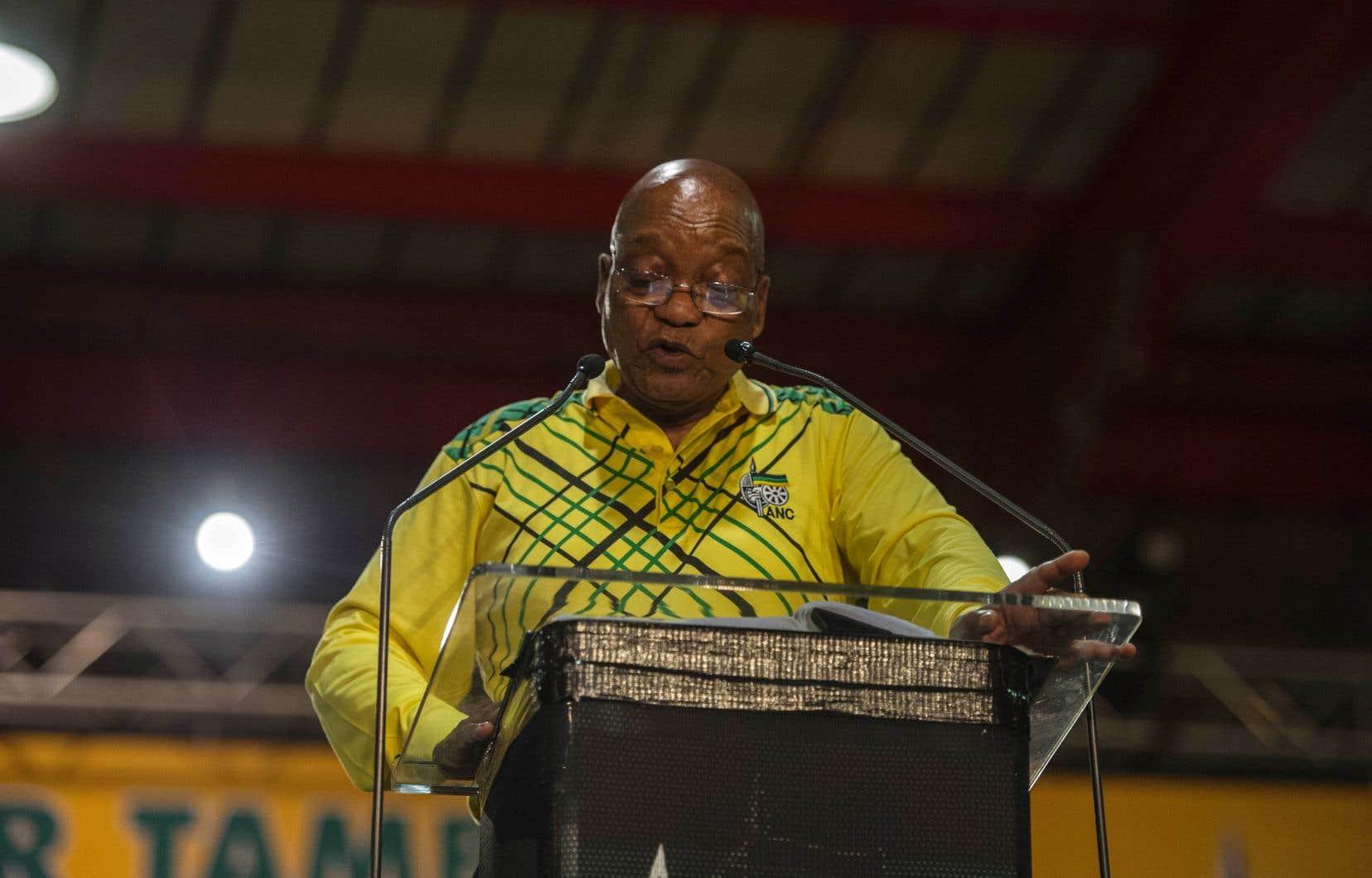 Devant des milliers de délégués réunis à Johannesburg, Jacob Zuma a prononcé son dernier discours de chef de l'ANC.