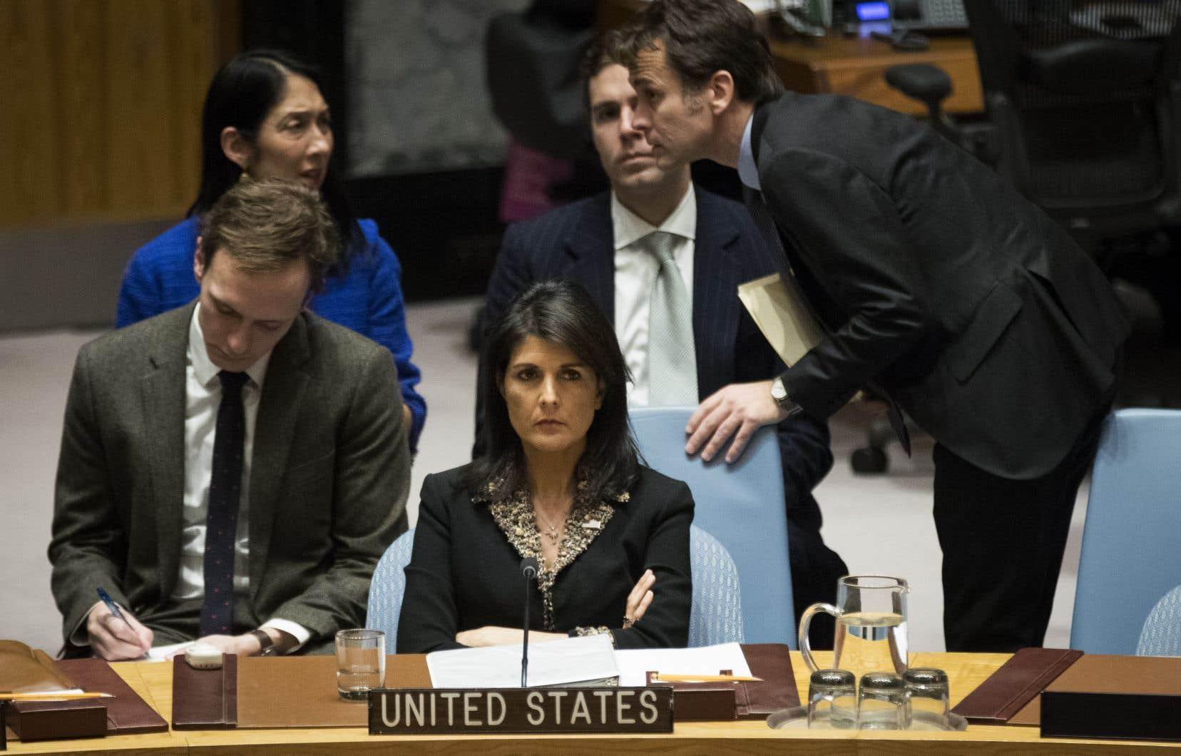 C'«est une insulte et un camouflet que nous n'oublierons pas», a menacé l'ambassadrice Nikki Haley.