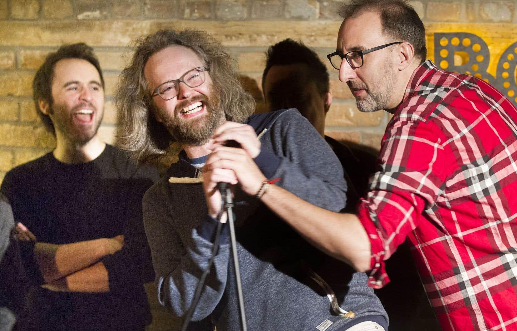 La programmation du nouveau festival rassemble à peu près tout ce qui compte en humouren français au Québec, de Louis-José Houde (à gauche) à François Bellefeuille (au centre) en passant par Martin Petit (à droite).