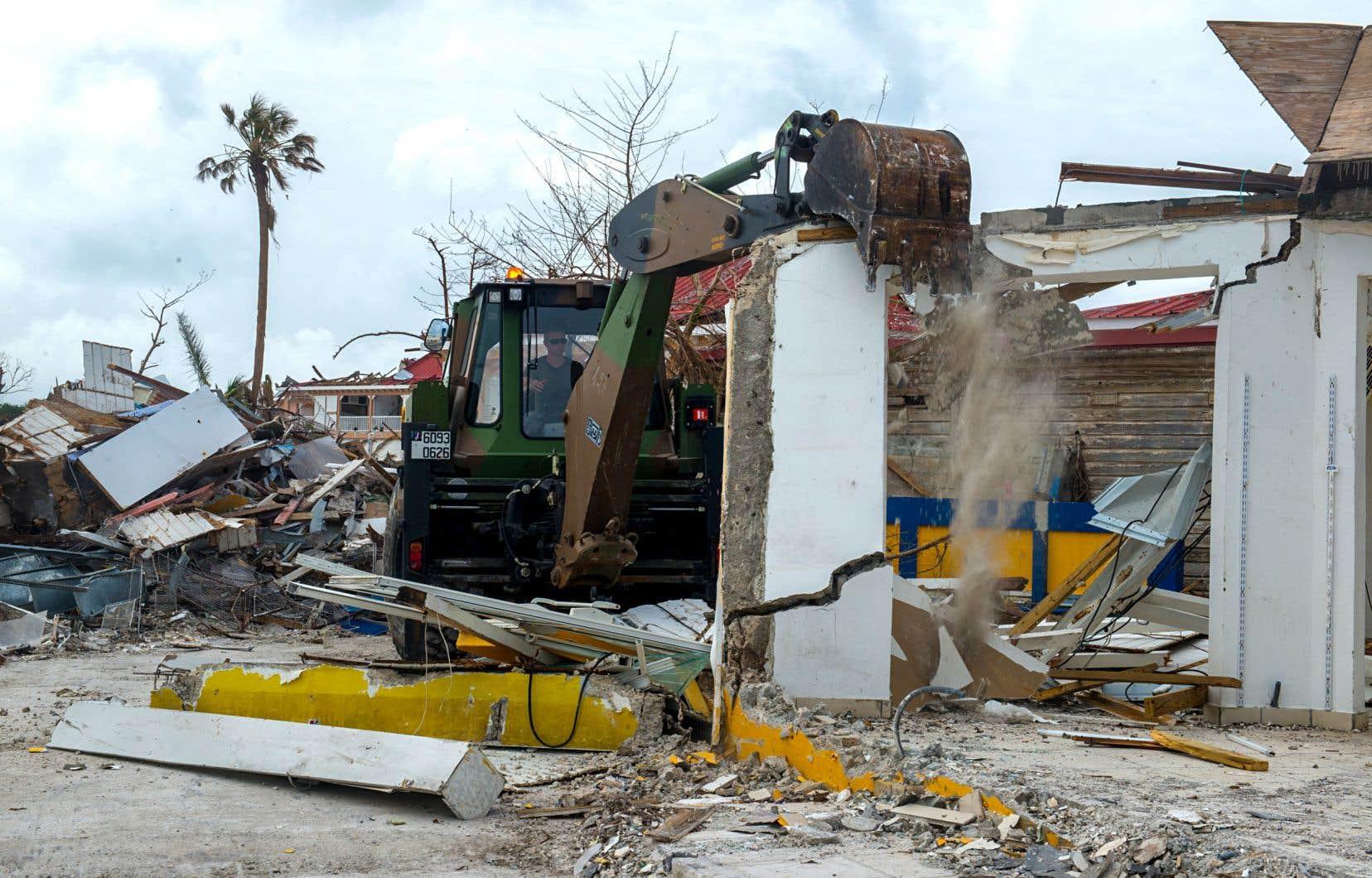 Des dégâts causés par l'ouragan «Irma», à Saint-Martin