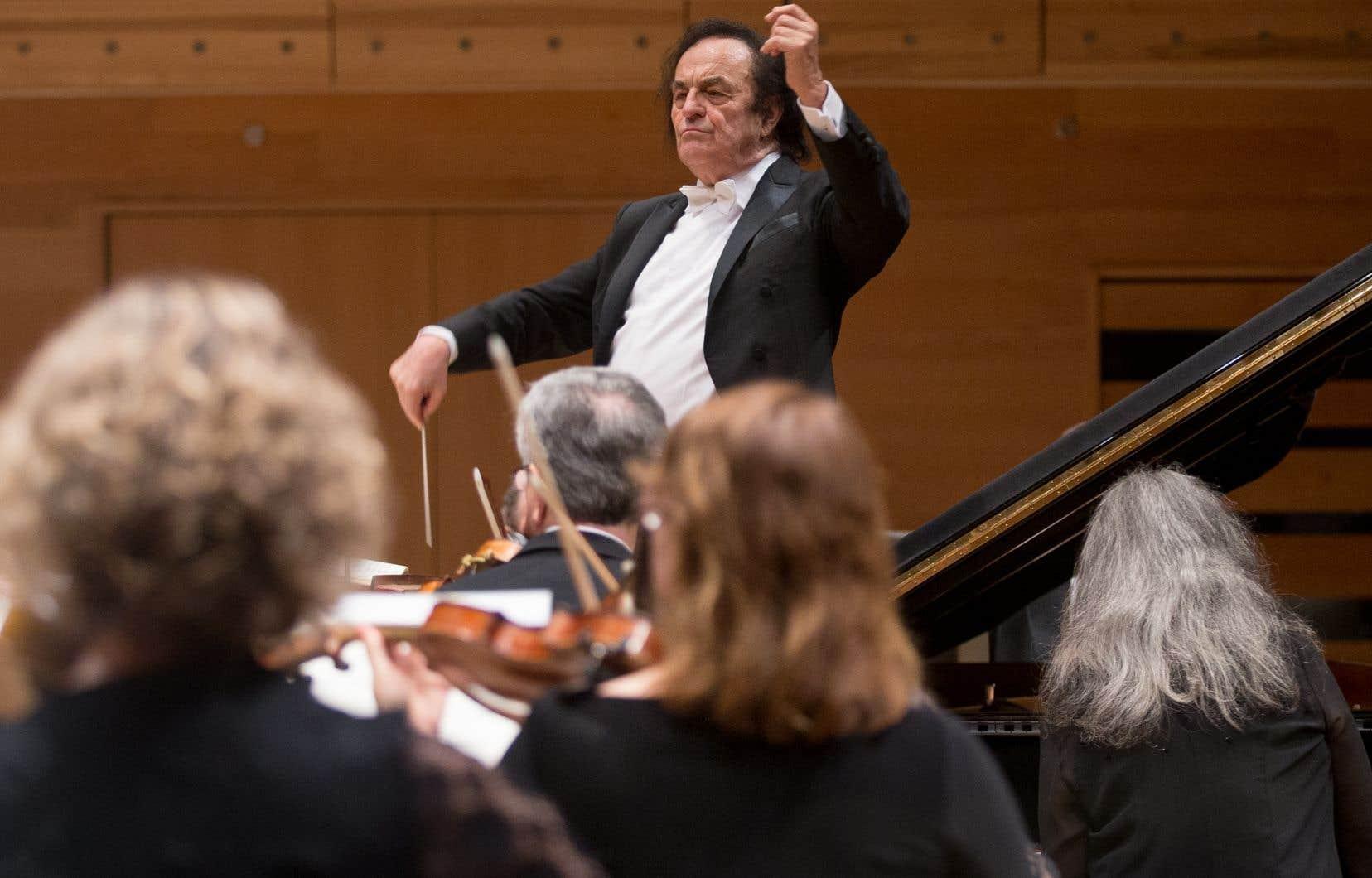Le chef d'orchestre Charles Dutoit avait renoué avec l'OSM en 2016 à l'occasion de deux concerts.