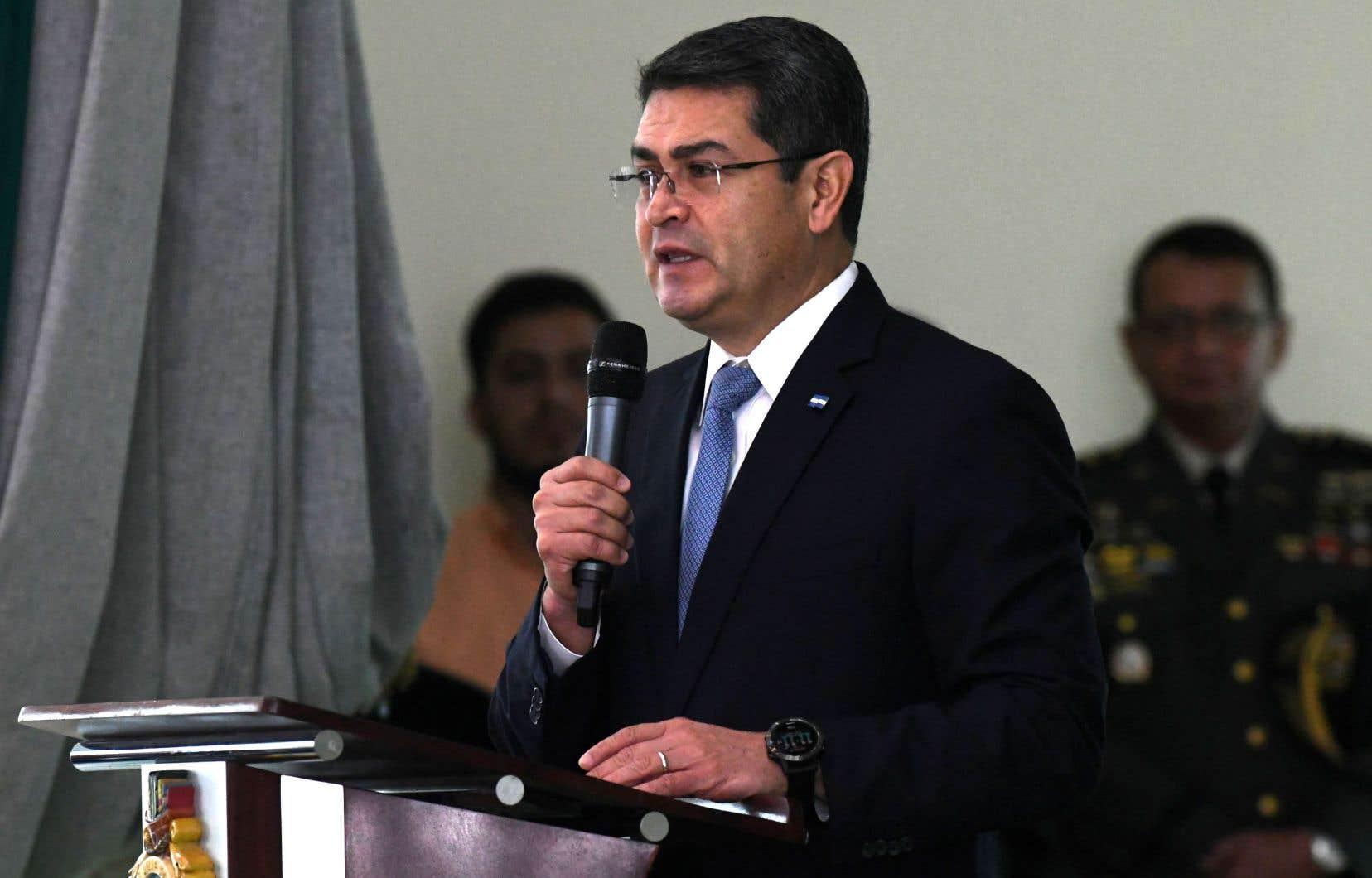 Le président réélu du Honduras, Juan Orlando Hernandez