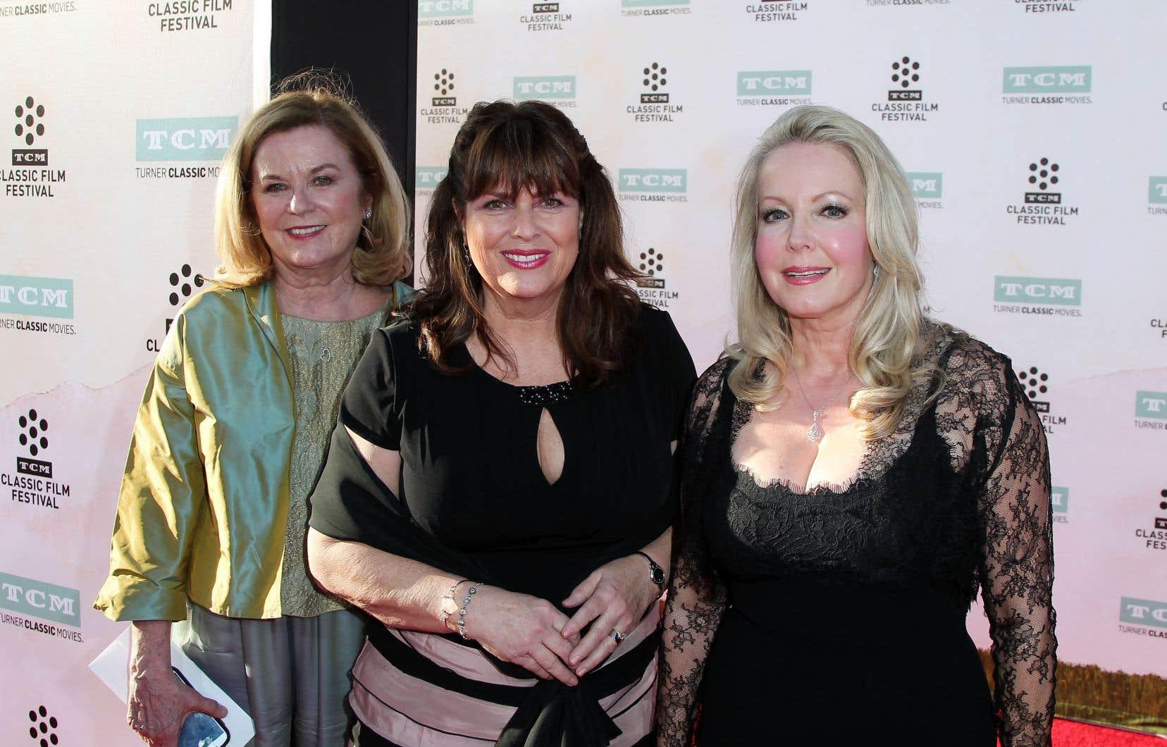 Heather Menzies-Urich (à gauche), aux côtés de Debbie Turner et de Kym Karath lors de la soirée d'ouverture du festival TCM Classic Film, en 2015.