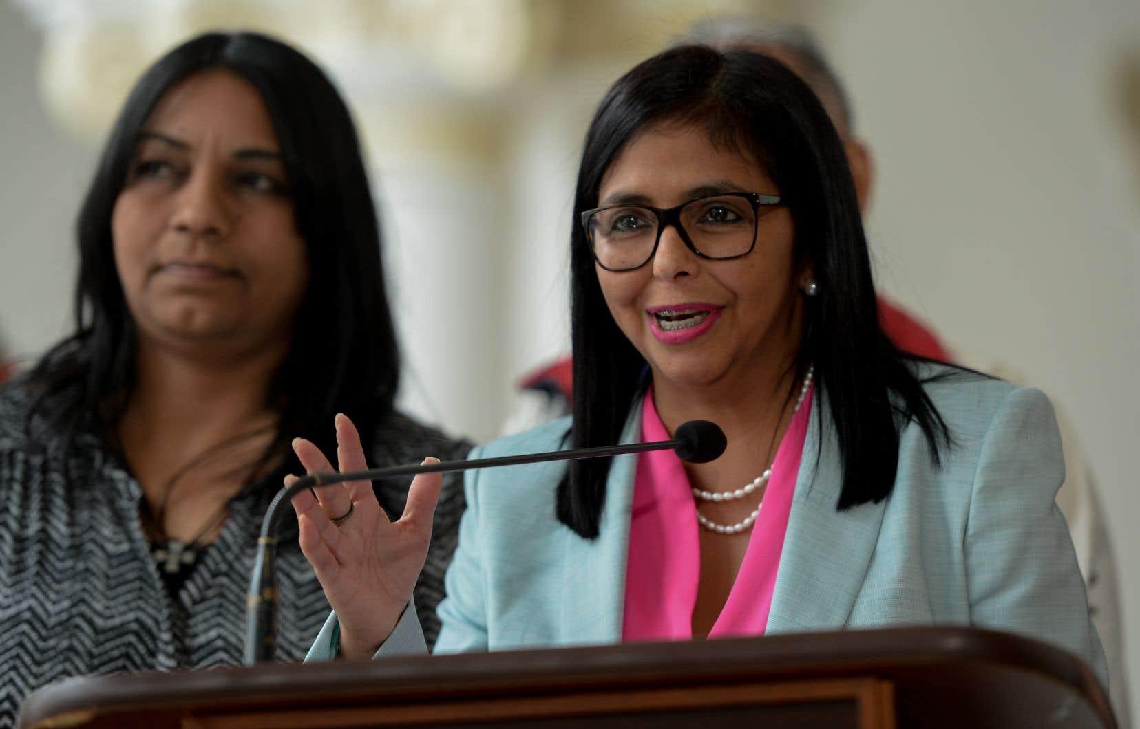 La présidente de l'Assemblée constituante, Delcy Rodriguez