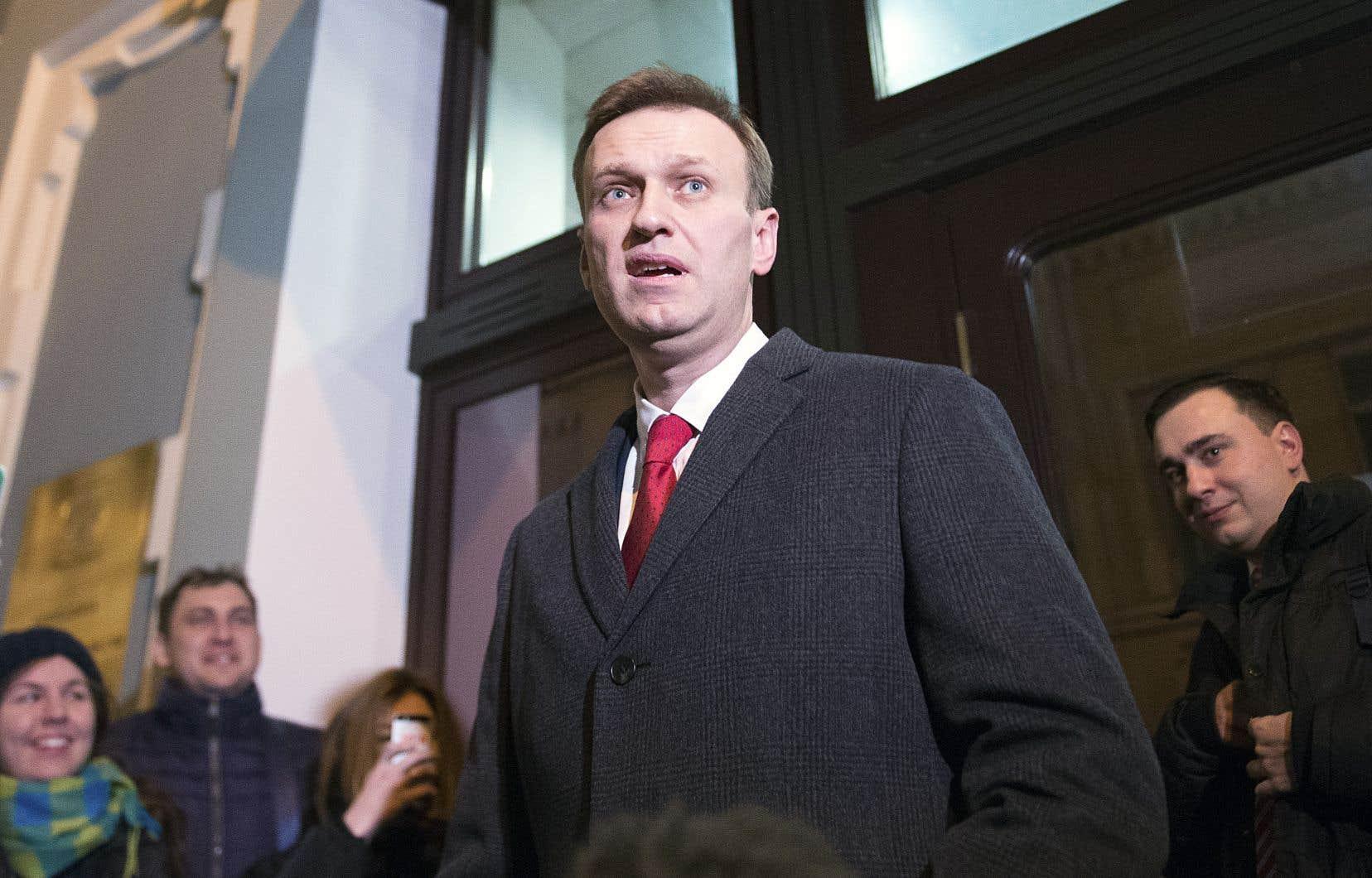 Alexeï Navalny s'est adressé aux médias, lundi.