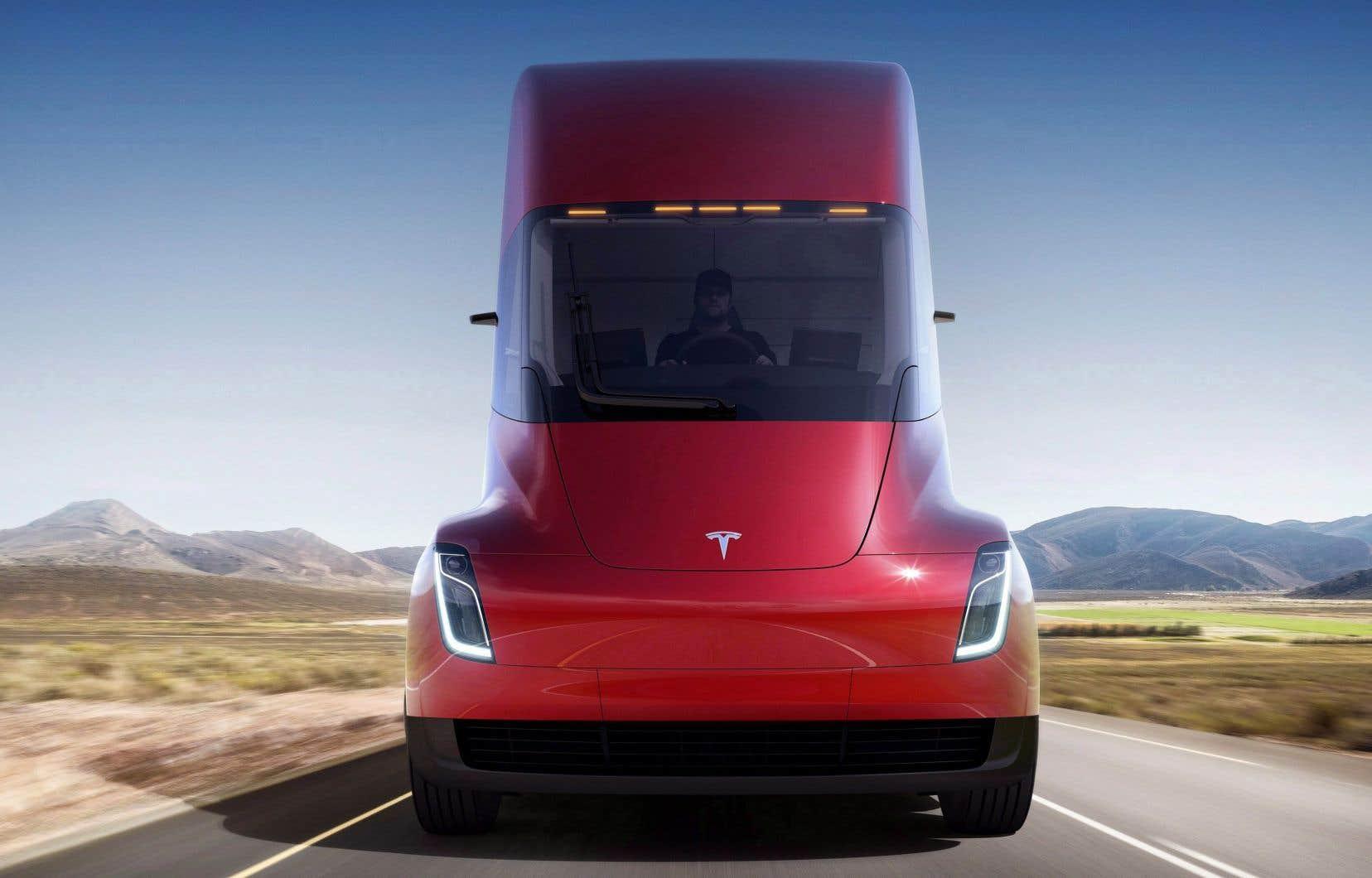 La nouvelle semi-remorque électrique dévoilée par Tesla, le jeudi 16 novembre 2017