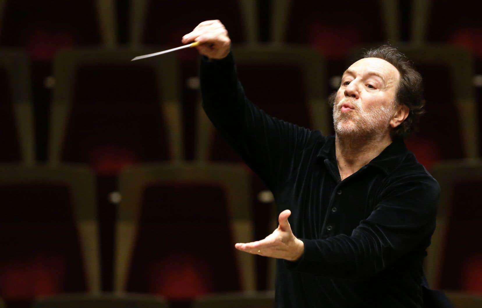 Le chef d'orchestre italien Riccardo Chailly a dirigé la Symphonie des Mille de Gustav Mahler au Festival de Lucerne en 2016.