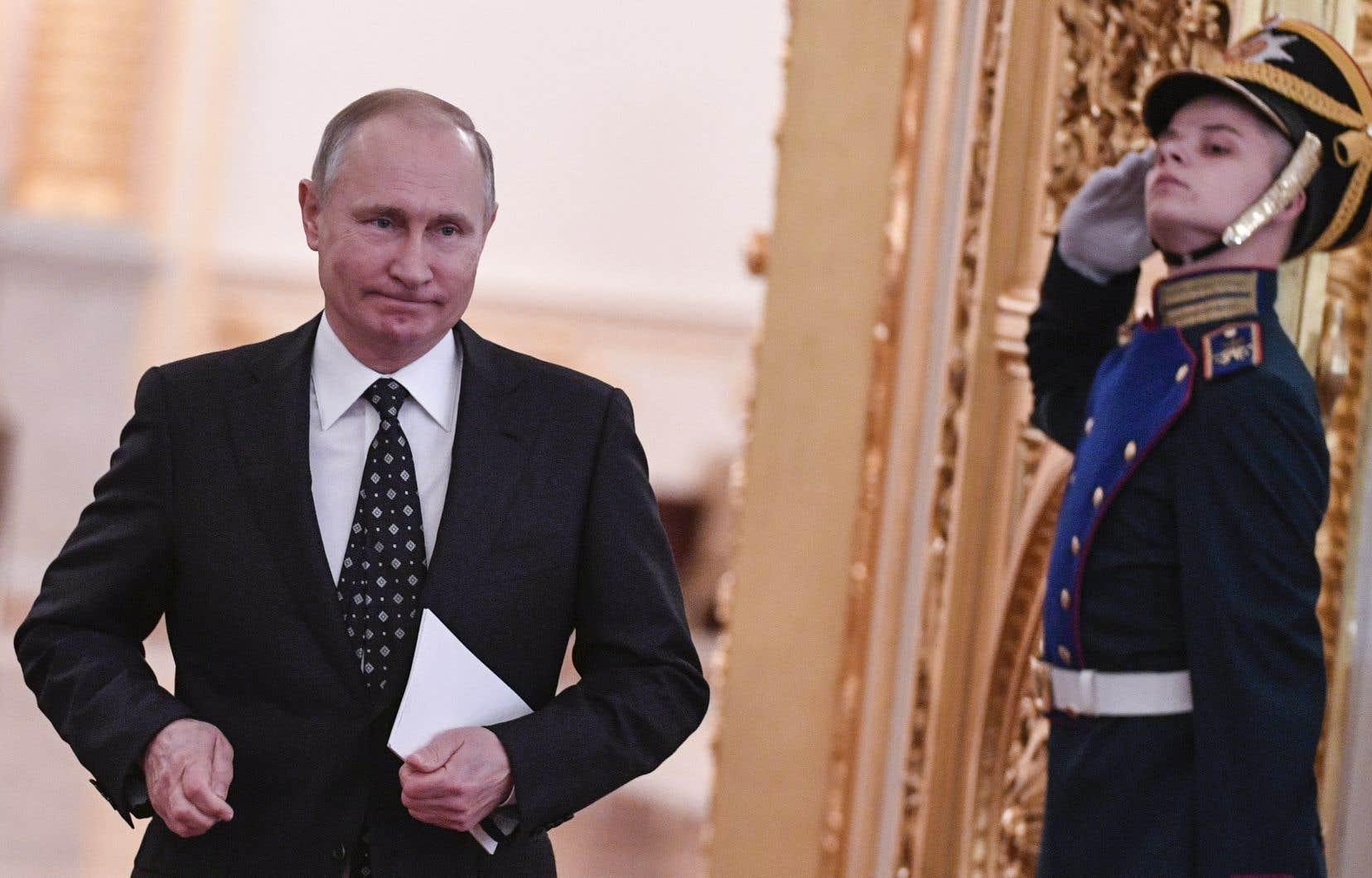 M.Poutine, 65ans, se présente en tant que candidat indépendant pour l'élection du 18mars, pour laquelle il part grand favori faute de réelle concurrence.