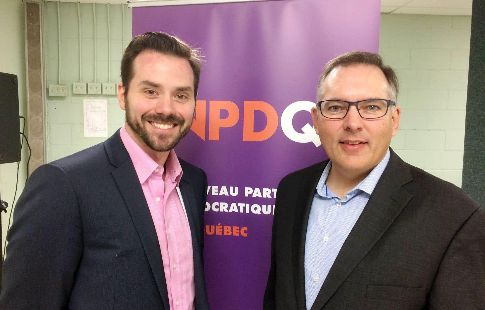 Les aspirants chefs Raphaël Fortin, 37 ans, et Raymond Côté, 50 ans
