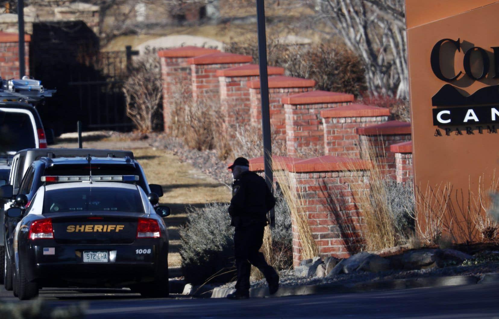 Les policiers avaient été appelés en tout début de matinée lorsque des coups de feu avaient été tirés depuis l'immeuble.