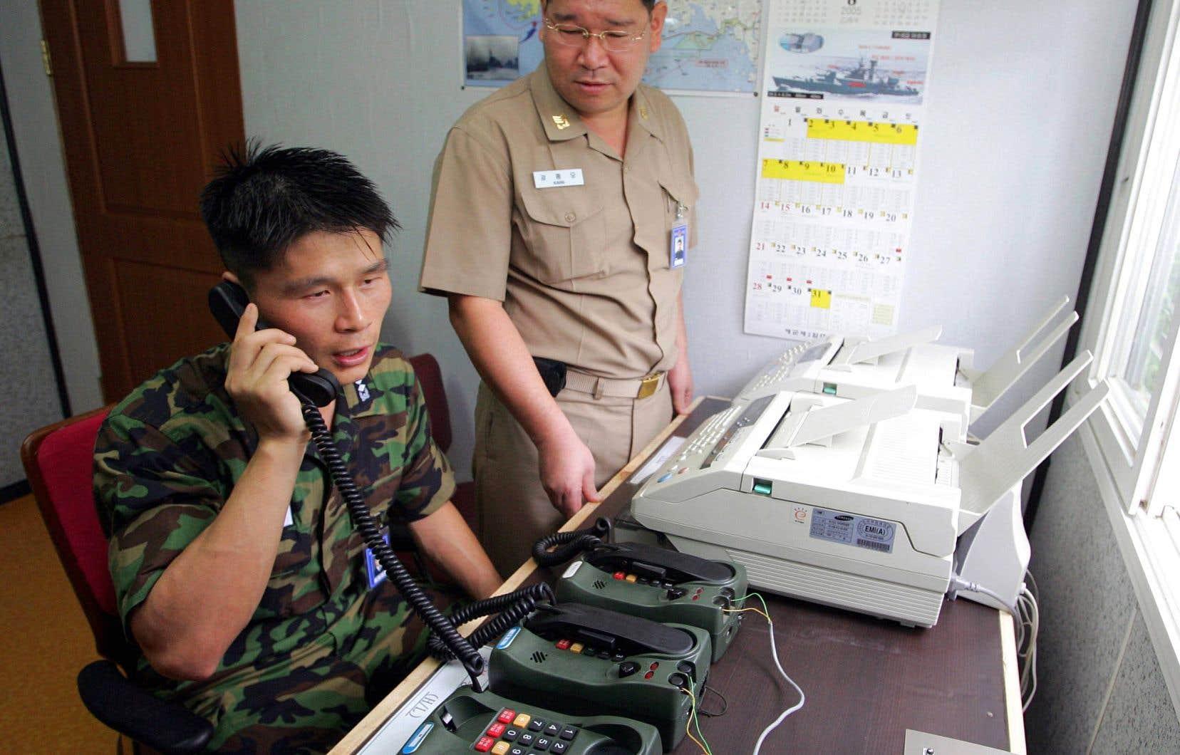 Le téléphone rouge transfrontalier entre les deux Corées, qui n'avait plus servi depuis 2016, a été réouvert mercredi 3 janvier.